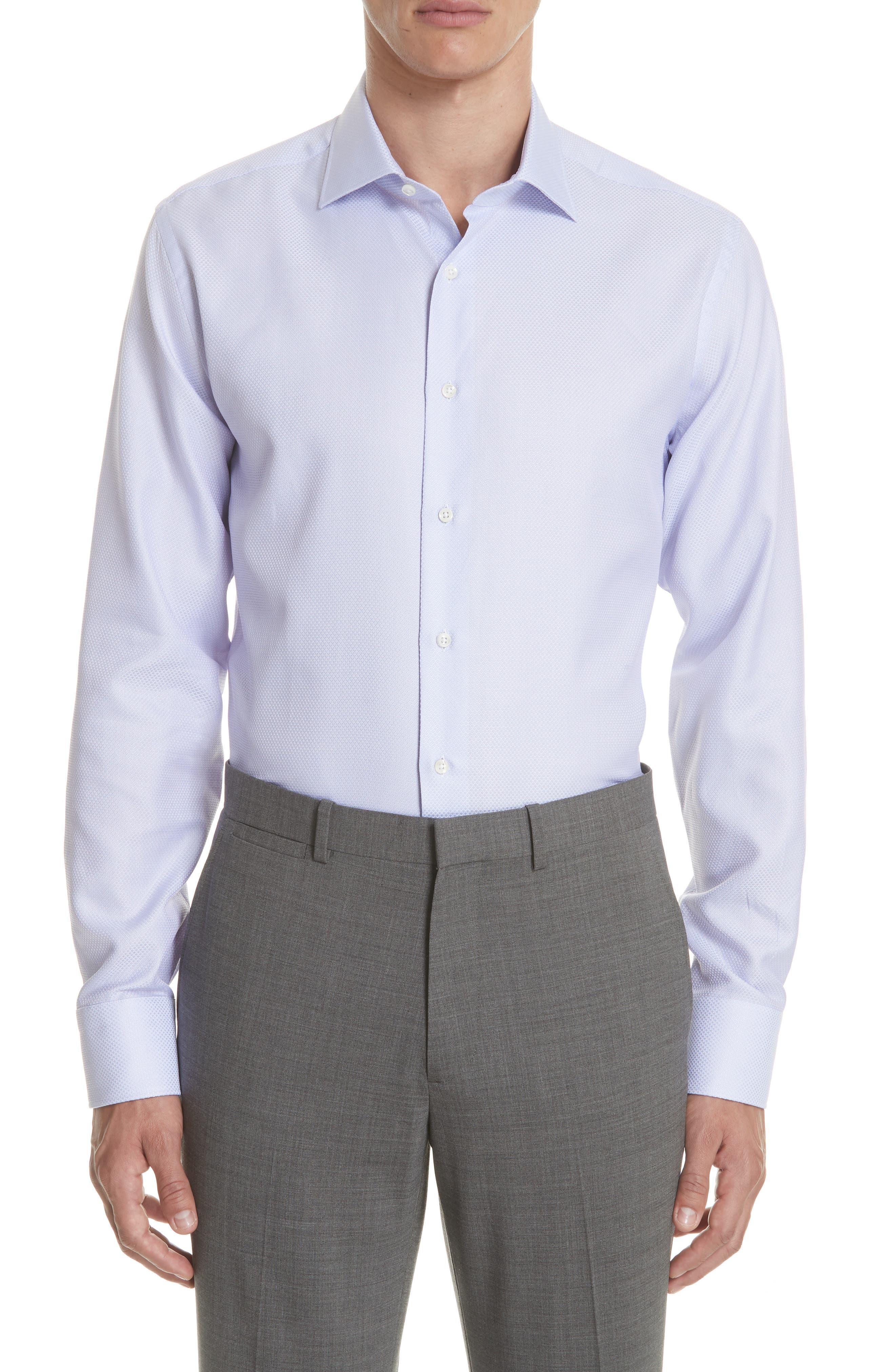 Regular Fit Dress Shirt,                             Main thumbnail 1, color,                             Light Purple