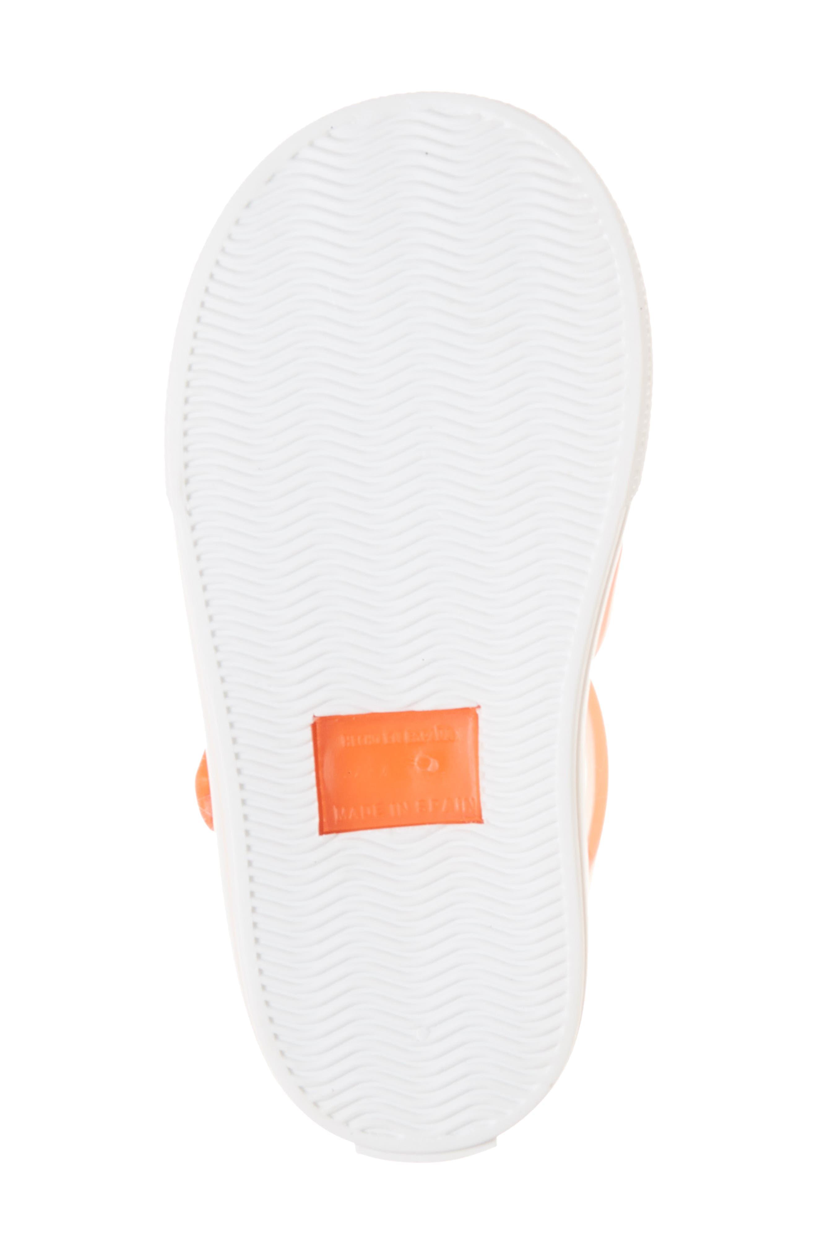 Tenis Fisherman Jelly Sandal,                             Alternate thumbnail 6, color,                             Crystal Neon Orange