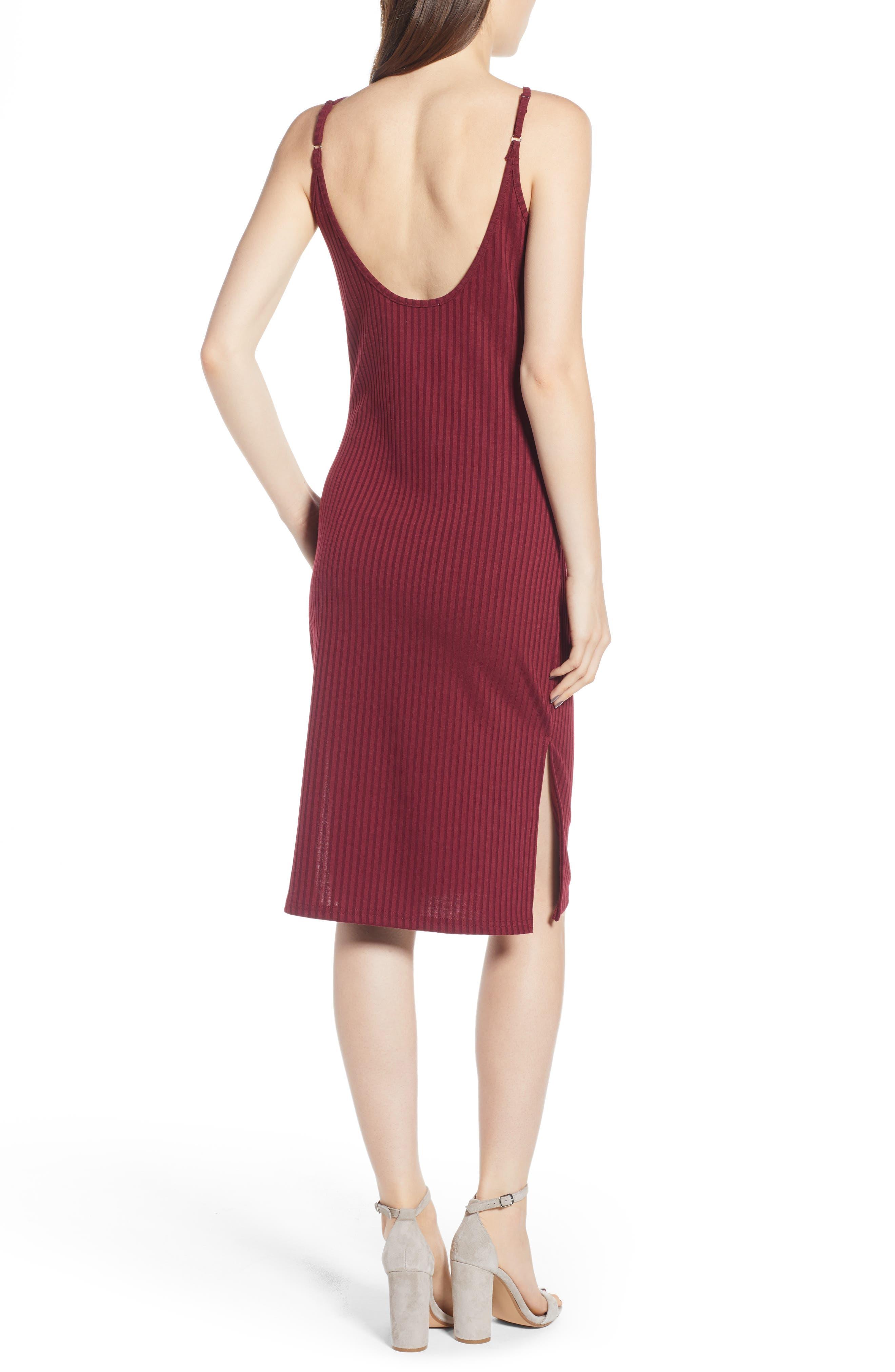 Hannah Dress,                             Alternate thumbnail 2, color,                             Wine