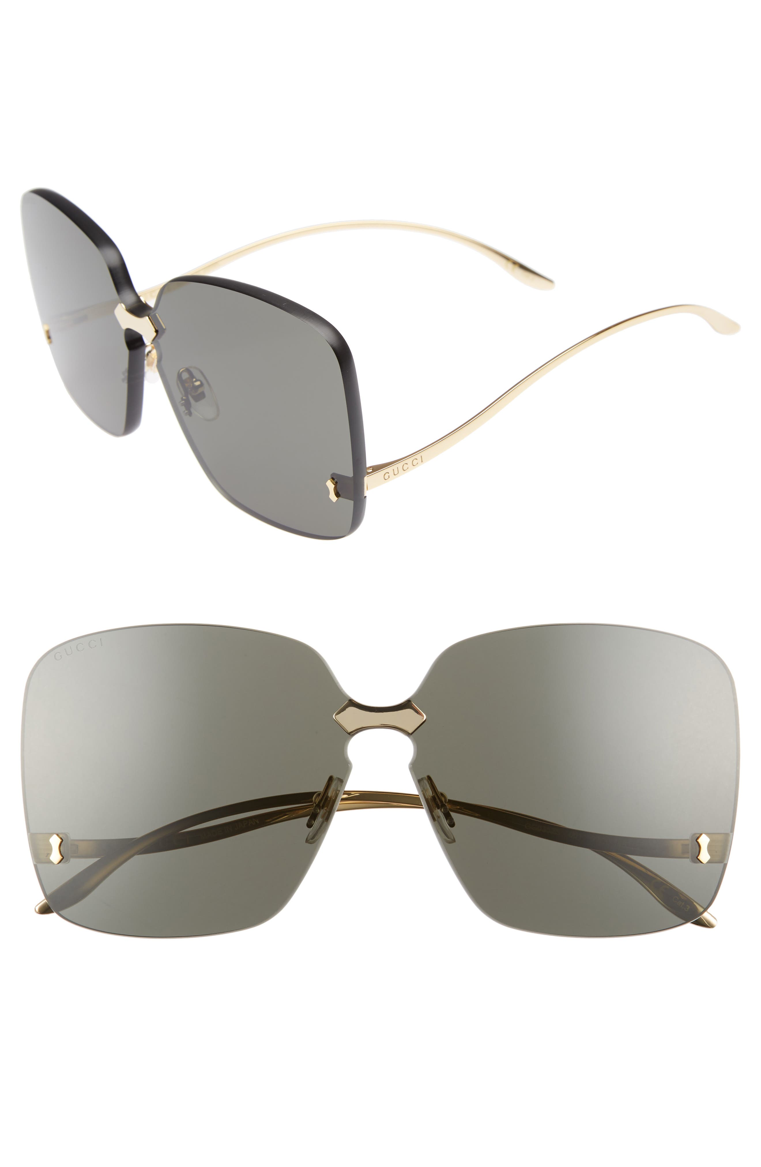 Gucci 99mm Rimless Sunglasses