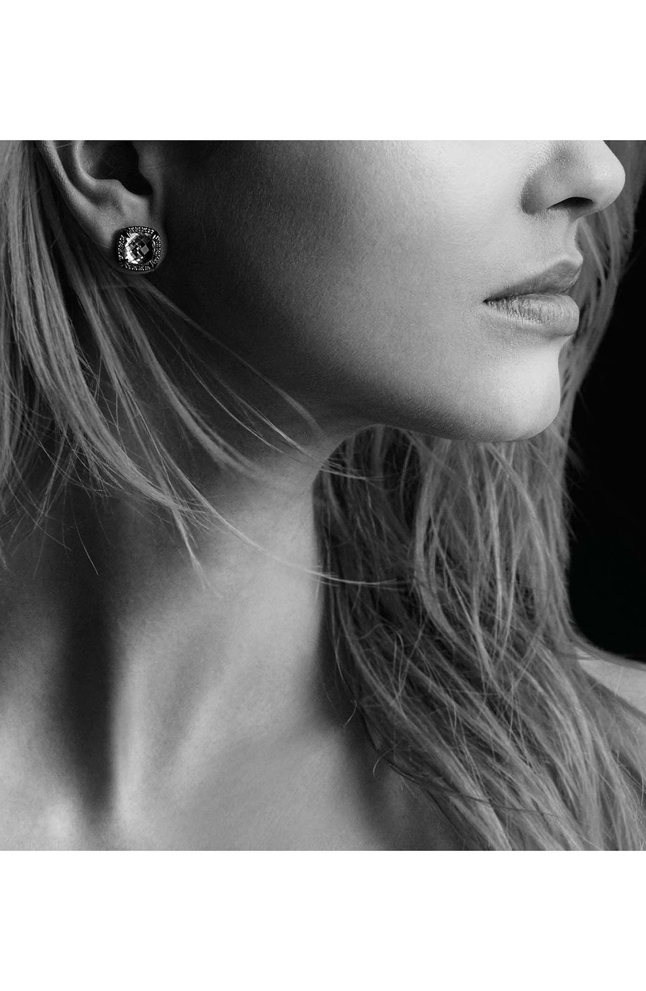 'Châtelaine' Earrings with Semiprecious Stone and Diamonds,                             Alternate thumbnail 3, color,