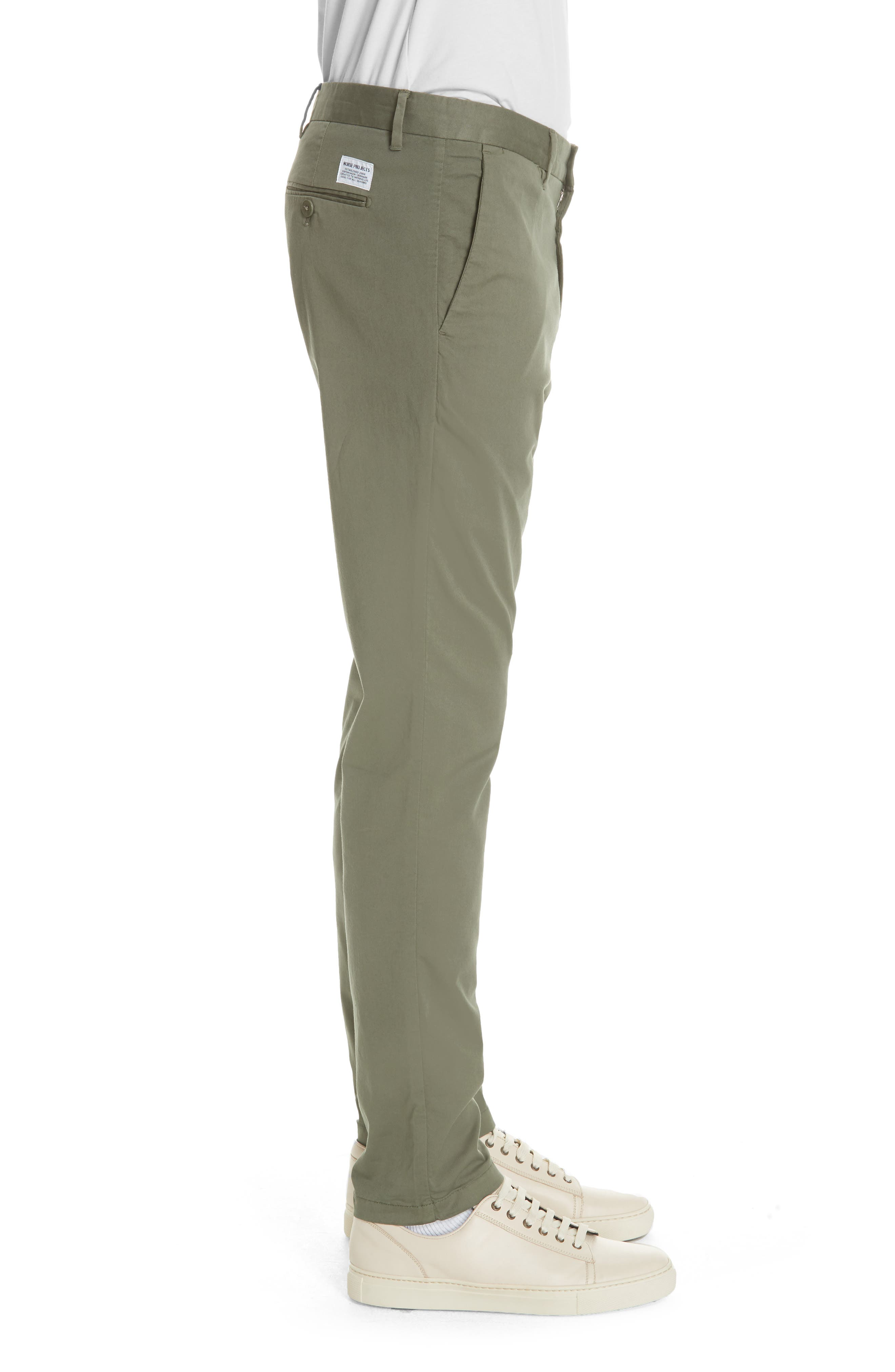 Aros Slim Fit Stretch Twill Pants,                             Alternate thumbnail 3, color,                             Dried Olive