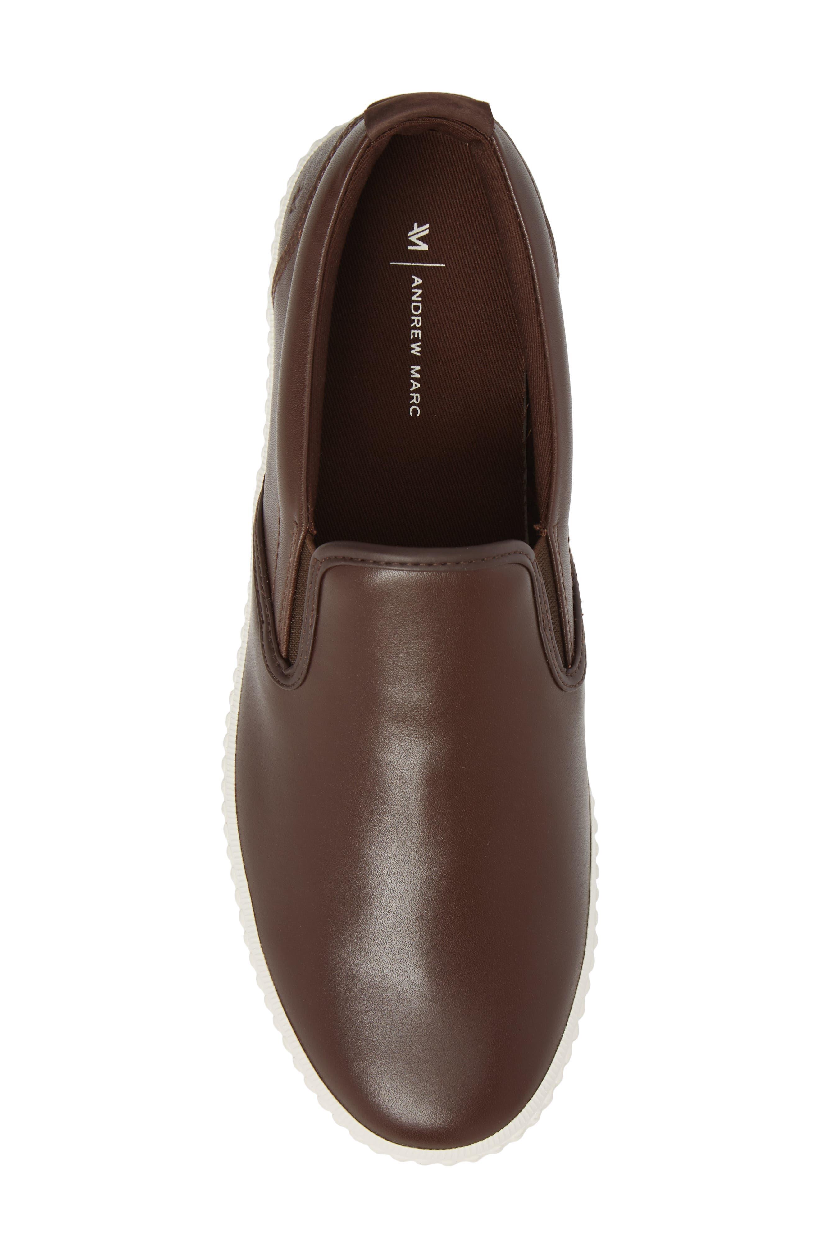 Riverside Slip-On Sneaker,                             Alternate thumbnail 5, color,                             Brown/ Off White Leather