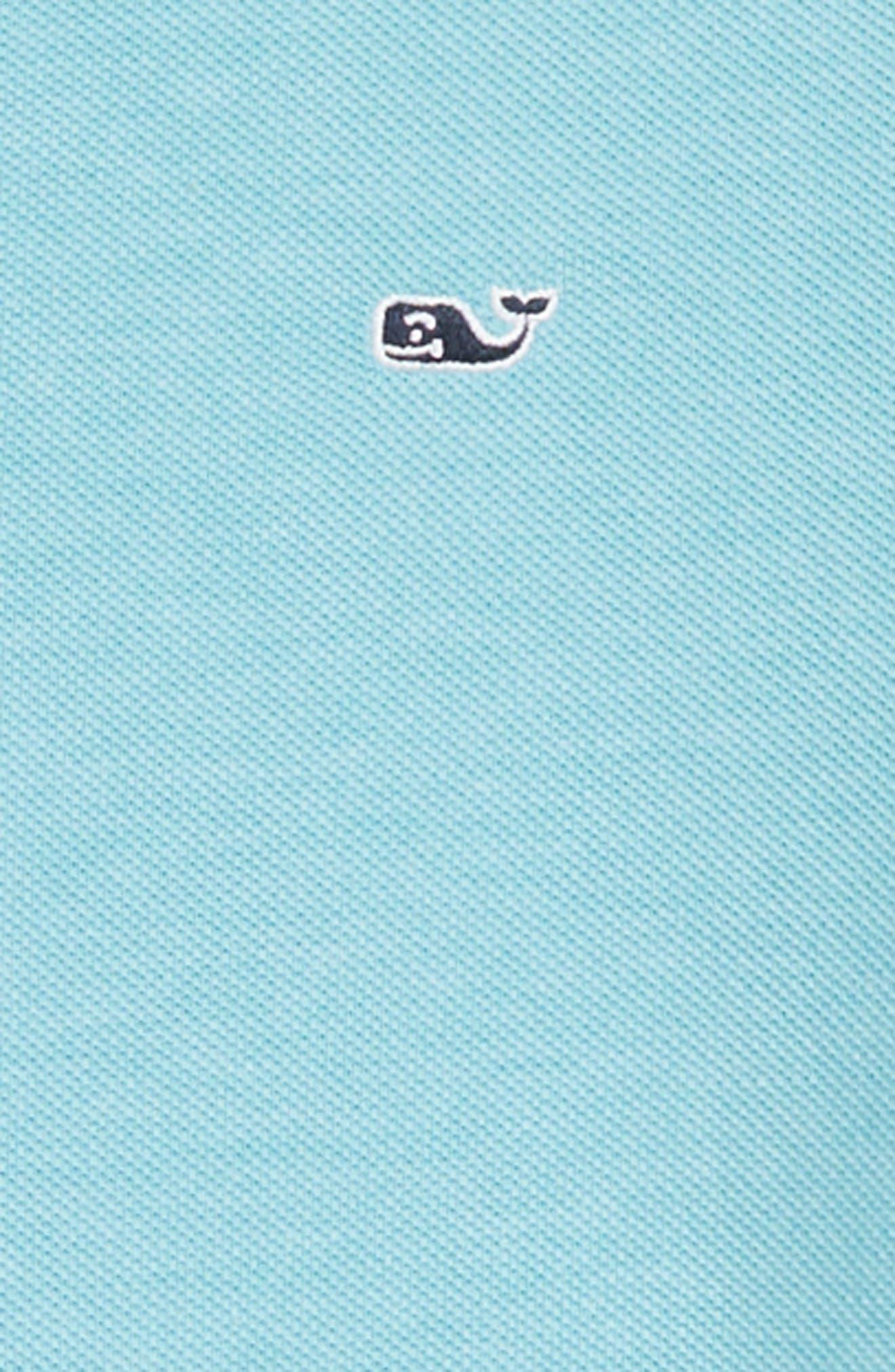 Stretch Piqué Polo,                             Alternate thumbnail 2, color,                             Turquoise