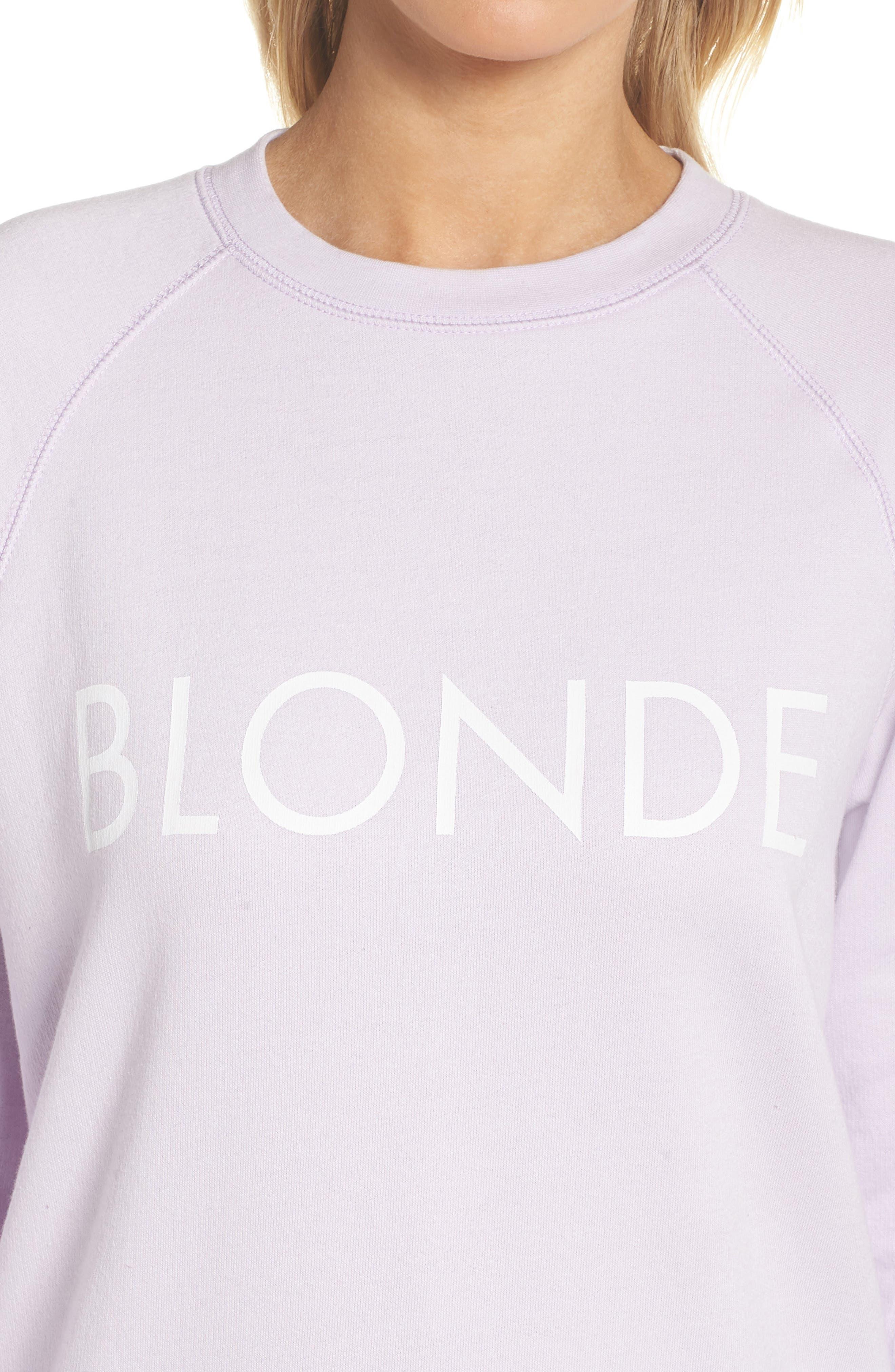Blonde Sweatshirt,                             Alternate thumbnail 4, color,                             Soft Lavender