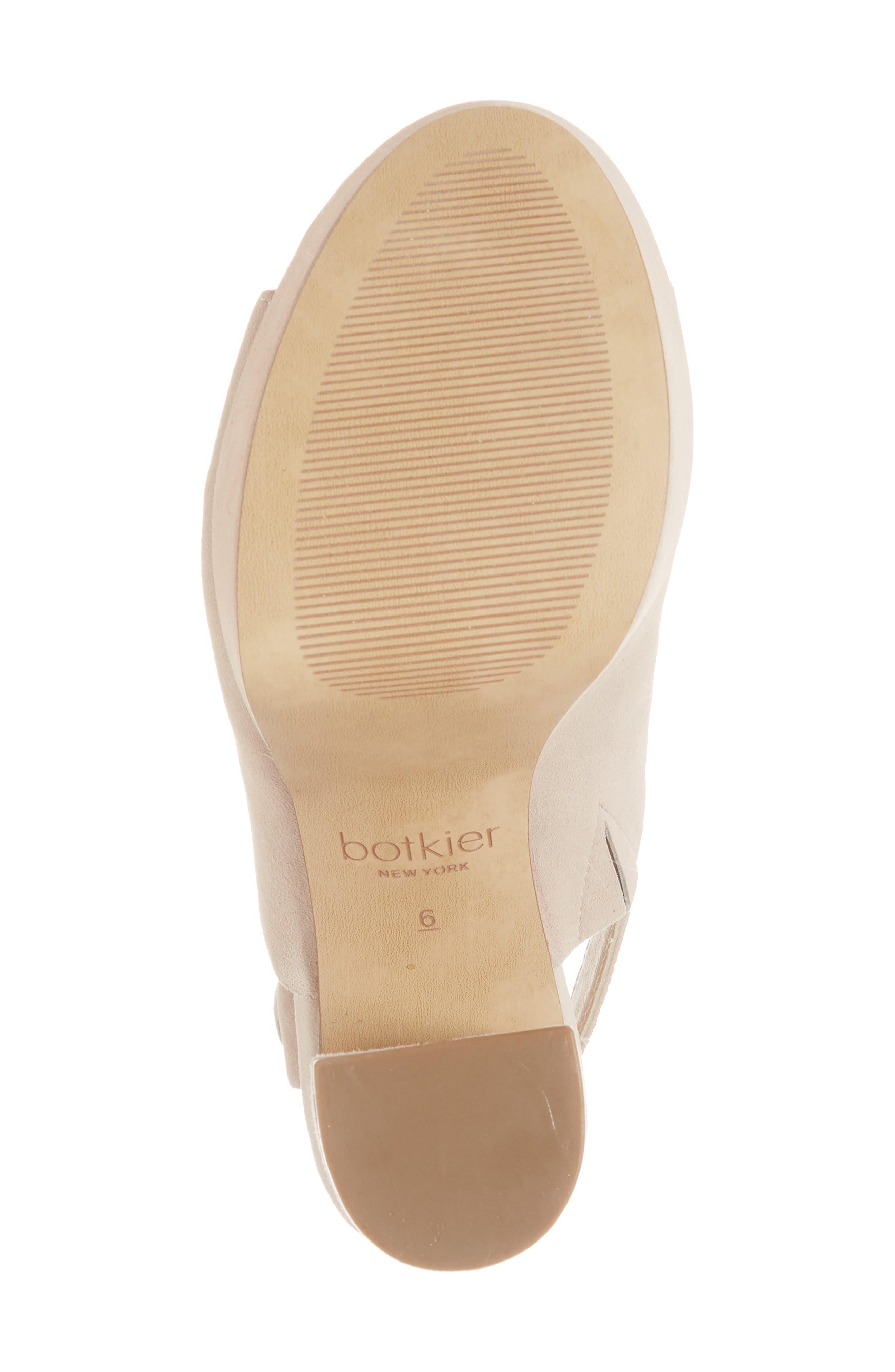 Jolene Platform Sandal,                             Alternate thumbnail 6, color,                             Blush Suede