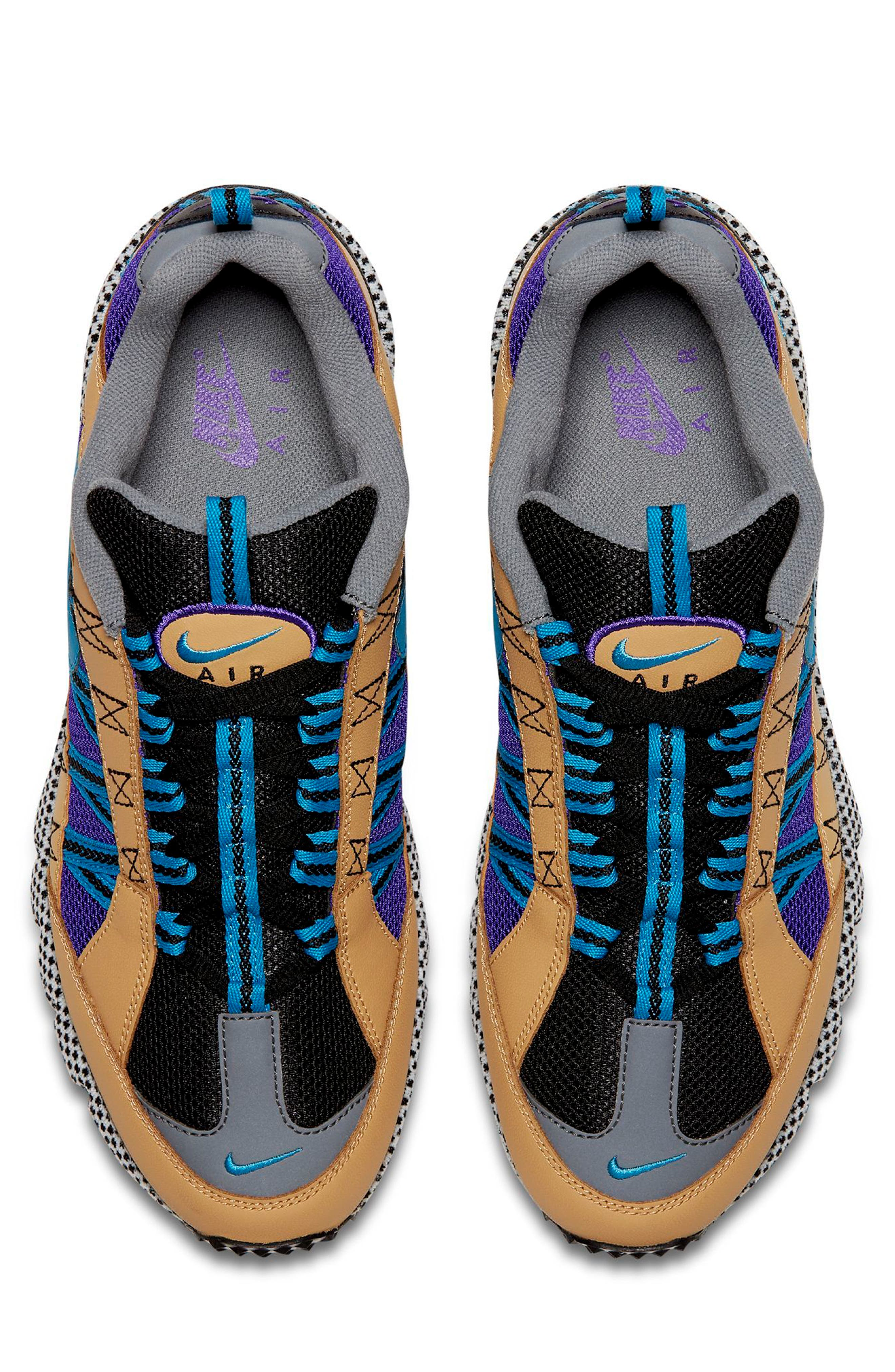 Air Humara 17 QS Sneaker,                             Alternate thumbnail 4, color,                             Gold/ Turquoise-Purple