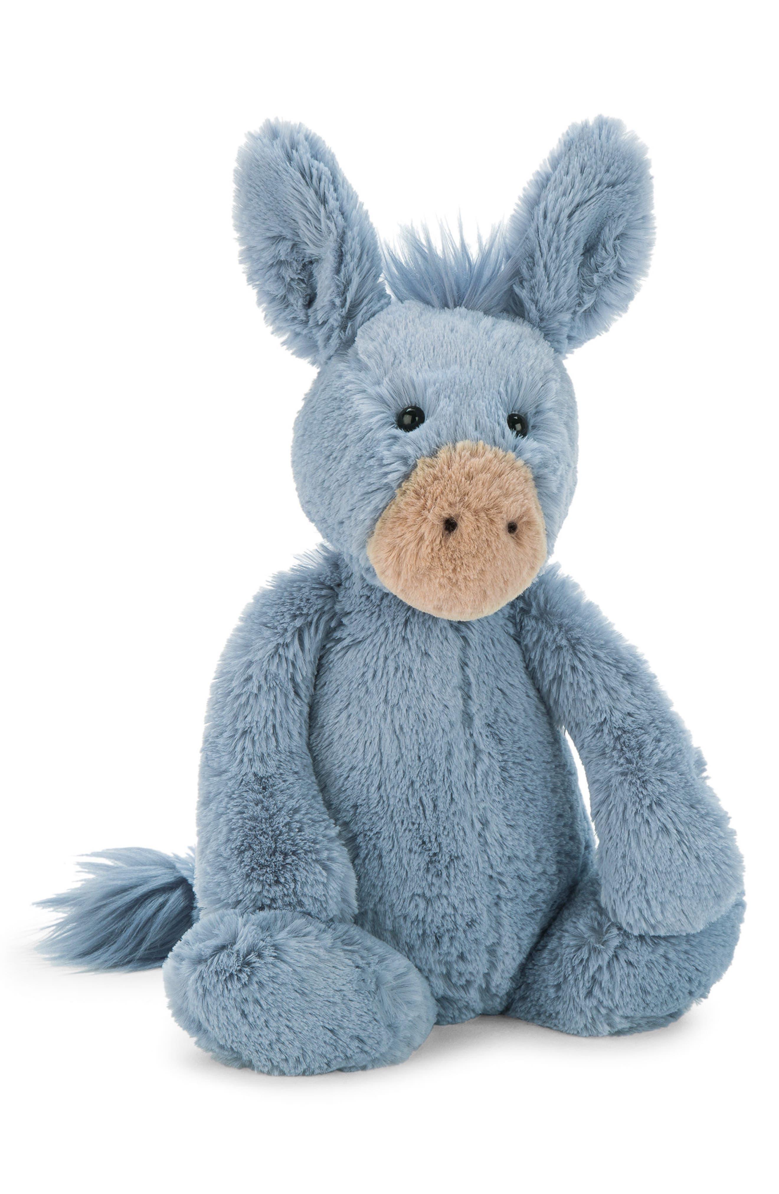 Bashful Donkey Stuffed Animal,                             Main thumbnail 1, color,                             Blue