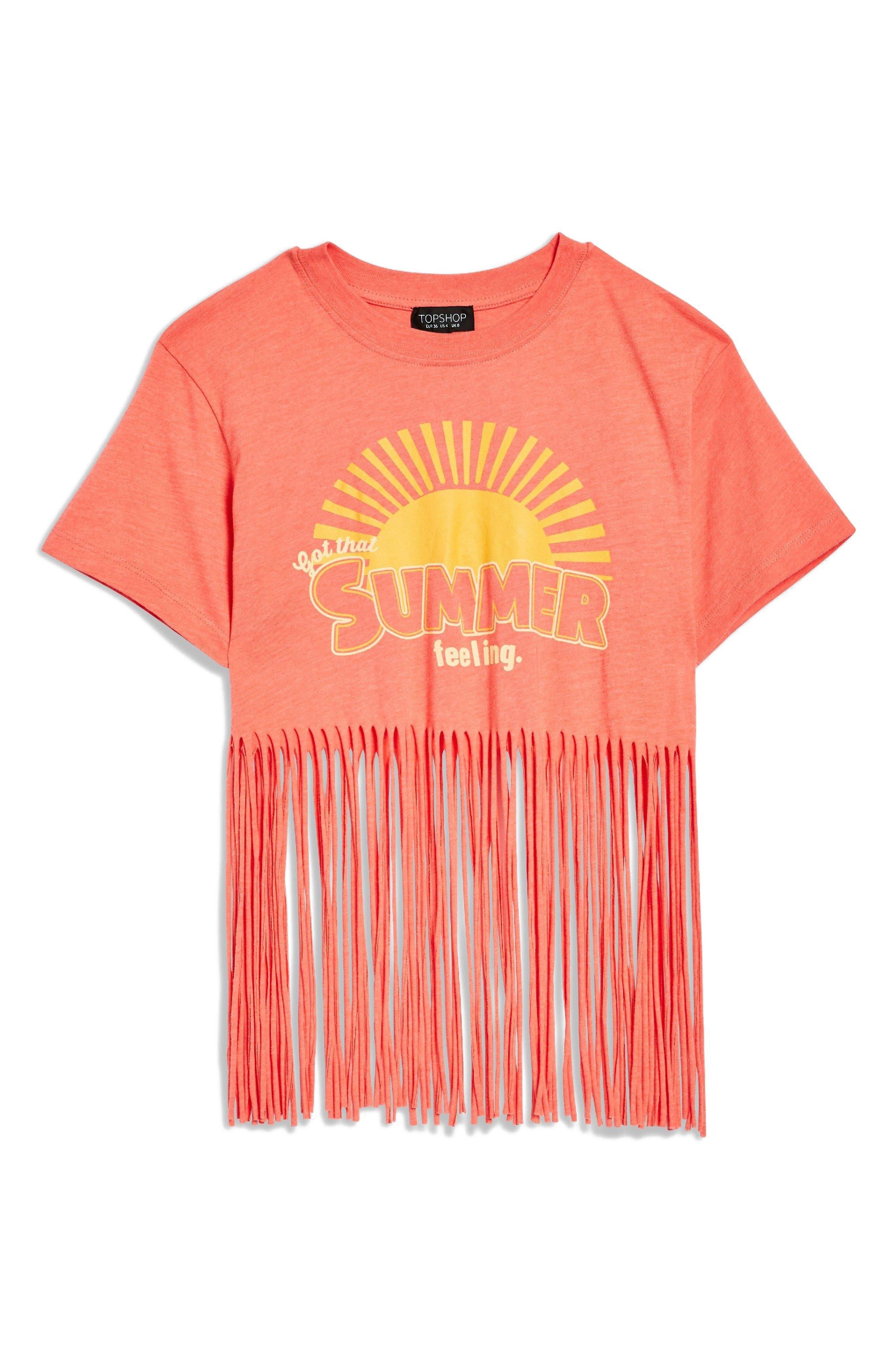 Summer Feelings T-Shirt,                             Alternate thumbnail 3, color,                             Pink Multi