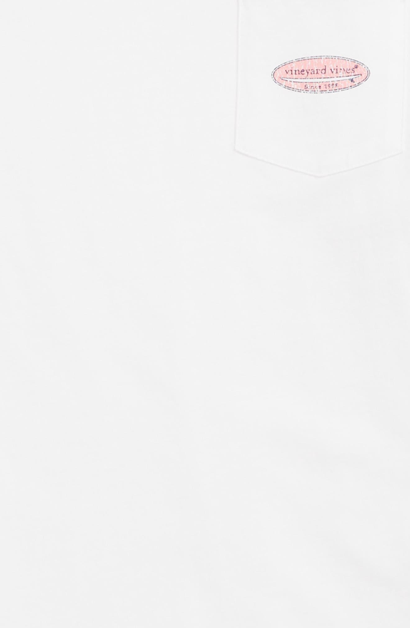 Surf Logo Pocket T-Shirt,                             Alternate thumbnail 2, color,                             White Cap