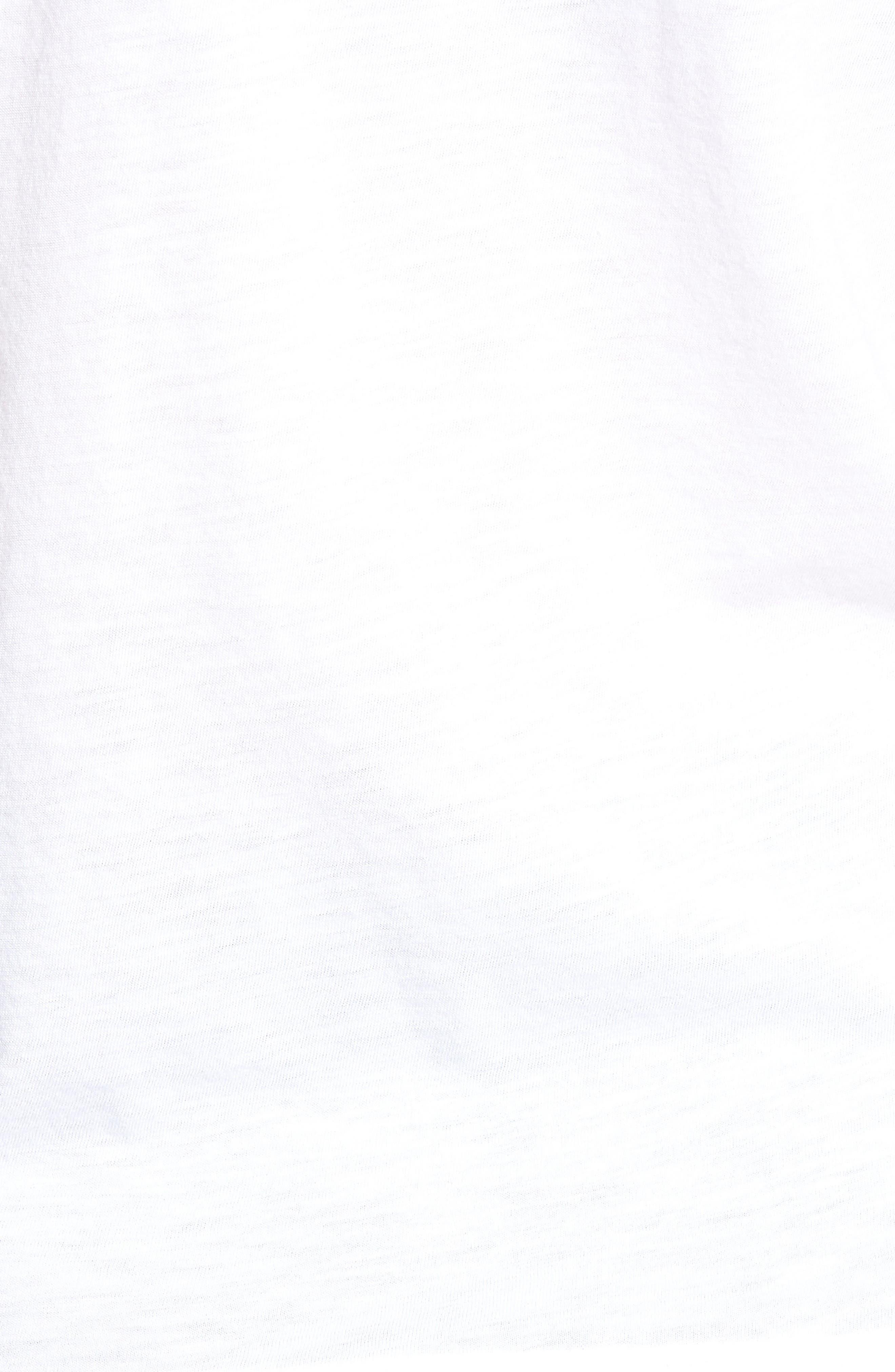 Noah Banded V-neck Tee,                             Alternate thumbnail 5, color,                             White