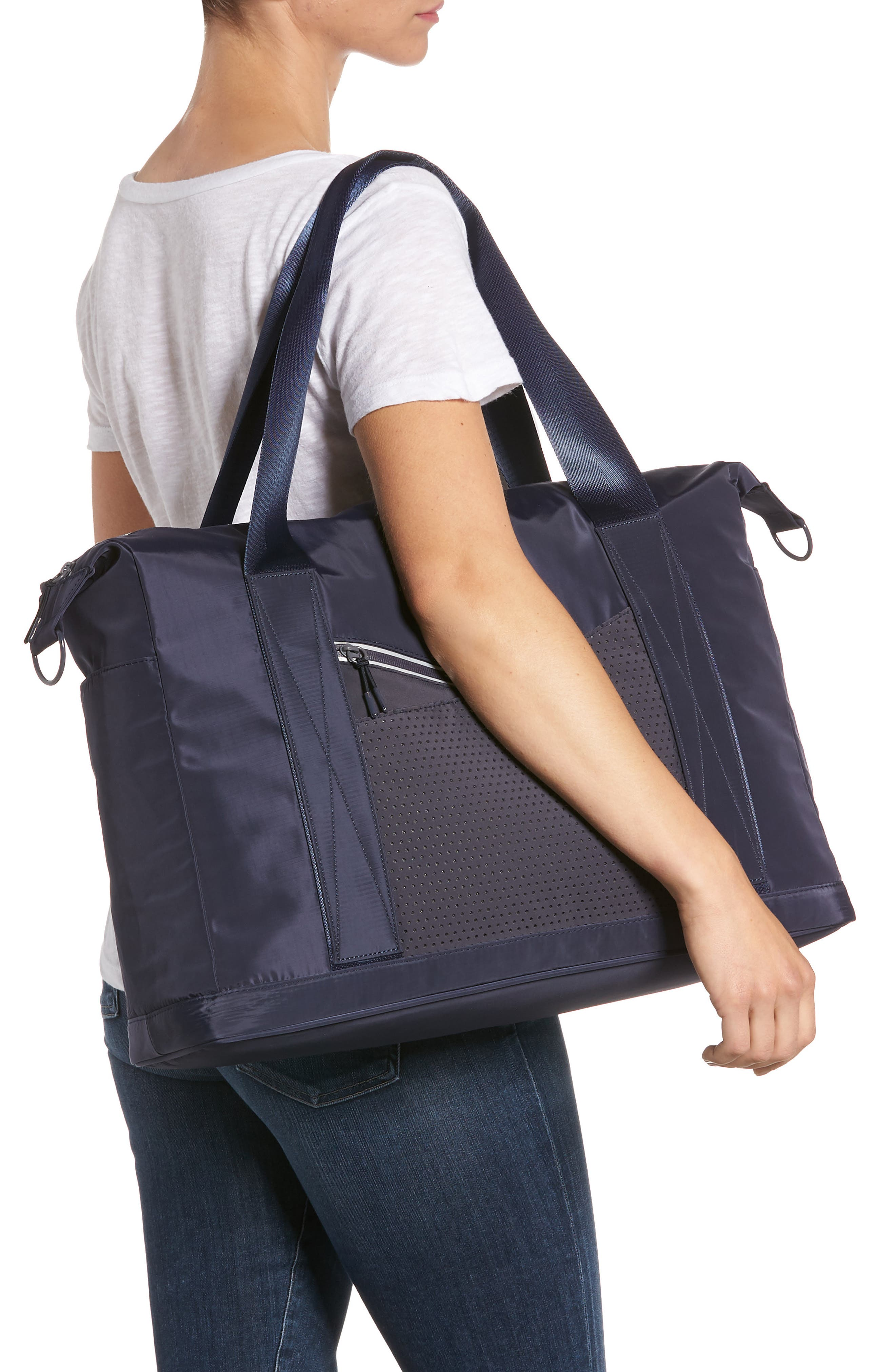 New Perforated Duffel Bag, Alternate, color, Navy Maritime