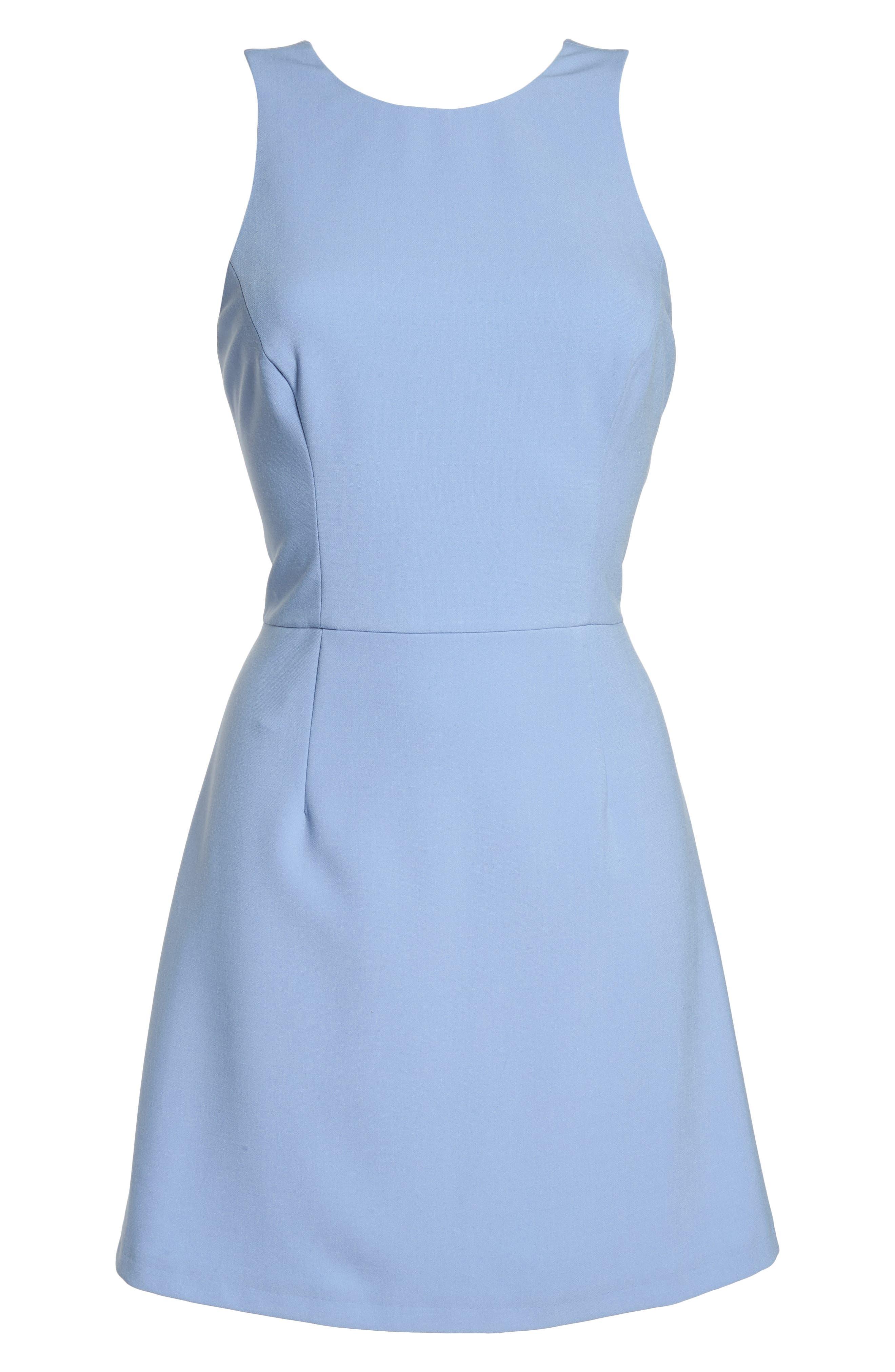 V-Back Tank Dress,                             Alternate thumbnail 7, color,                             Ancona Blue