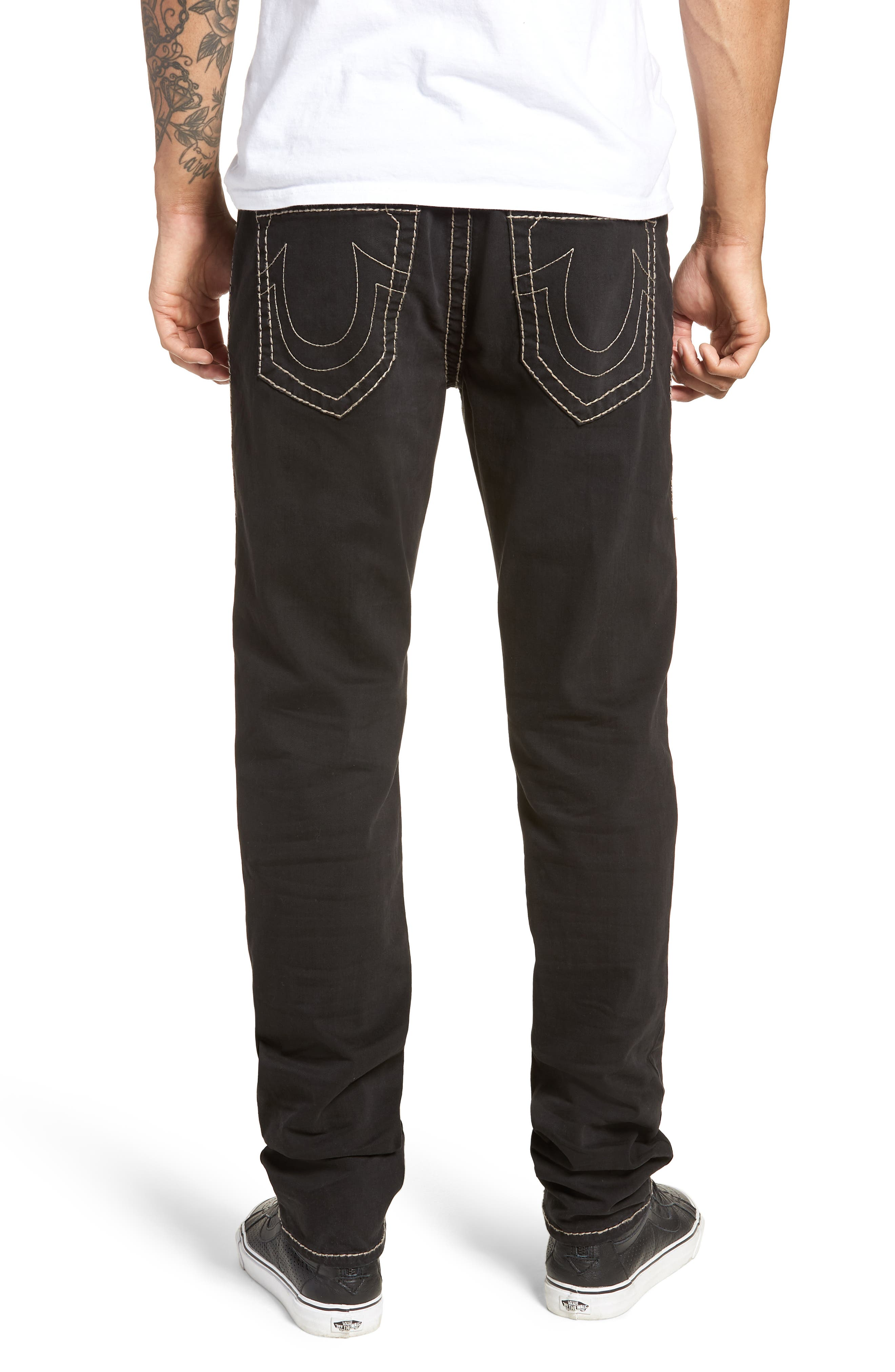 Rocco Skinny Fit Jeans,                             Alternate thumbnail 2, color,                             Black