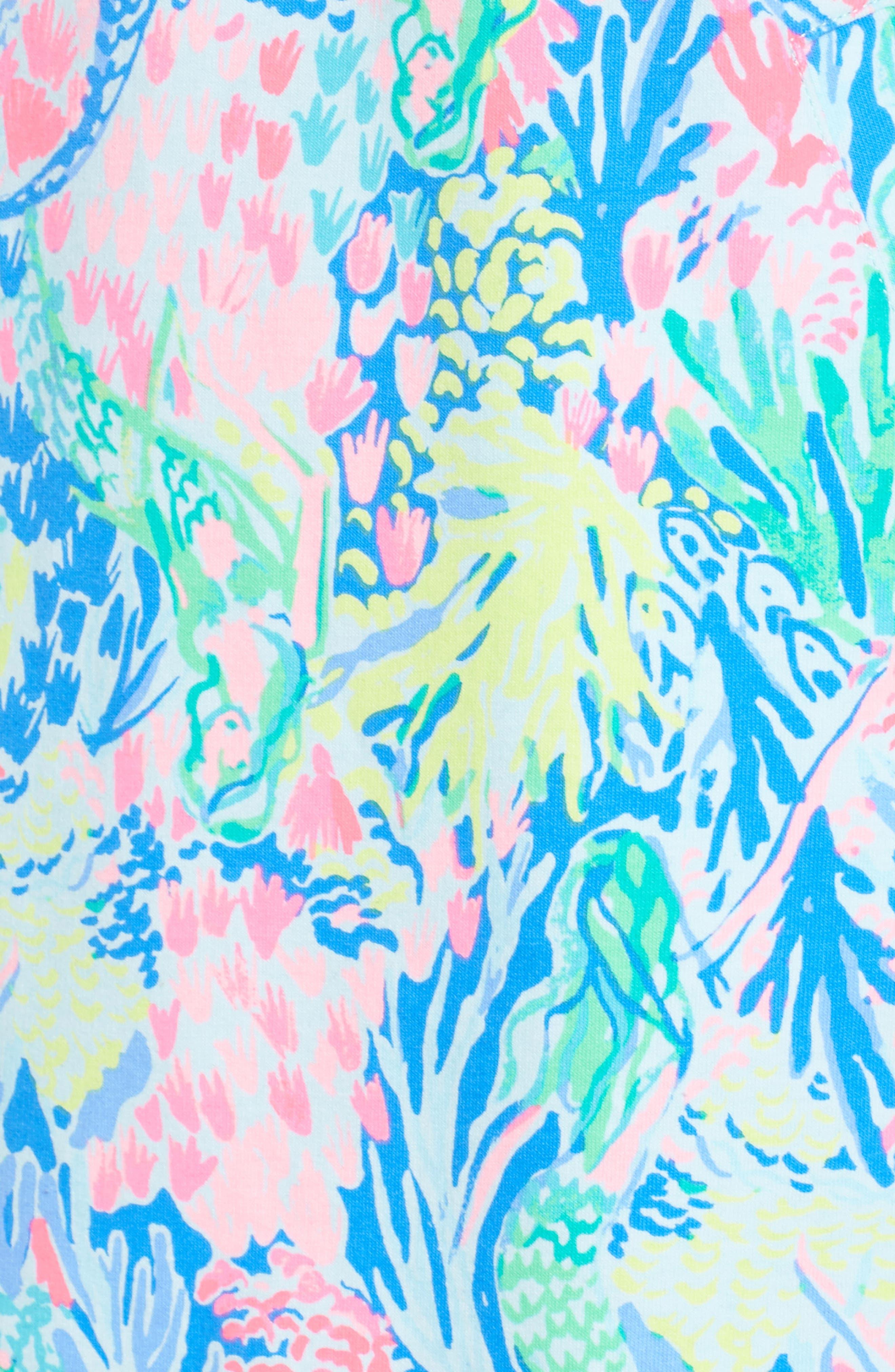 Lilly Pulitzer Skipper Shift Dress,                             Alternate thumbnail 5, color,                             Multi Mermaids Cove