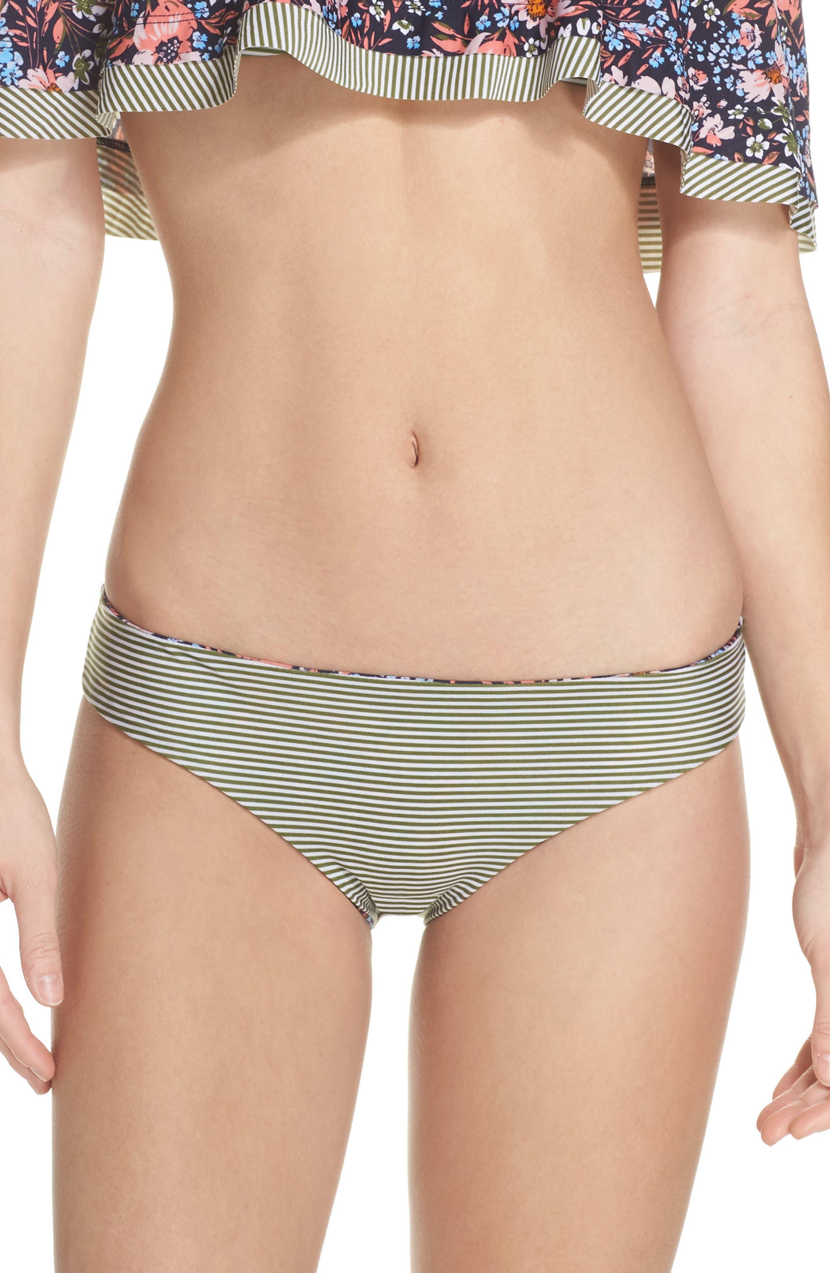 Enchanted Reversible Bikini Bottoms,                             Alternate thumbnail 2, color,                             Olive Multi