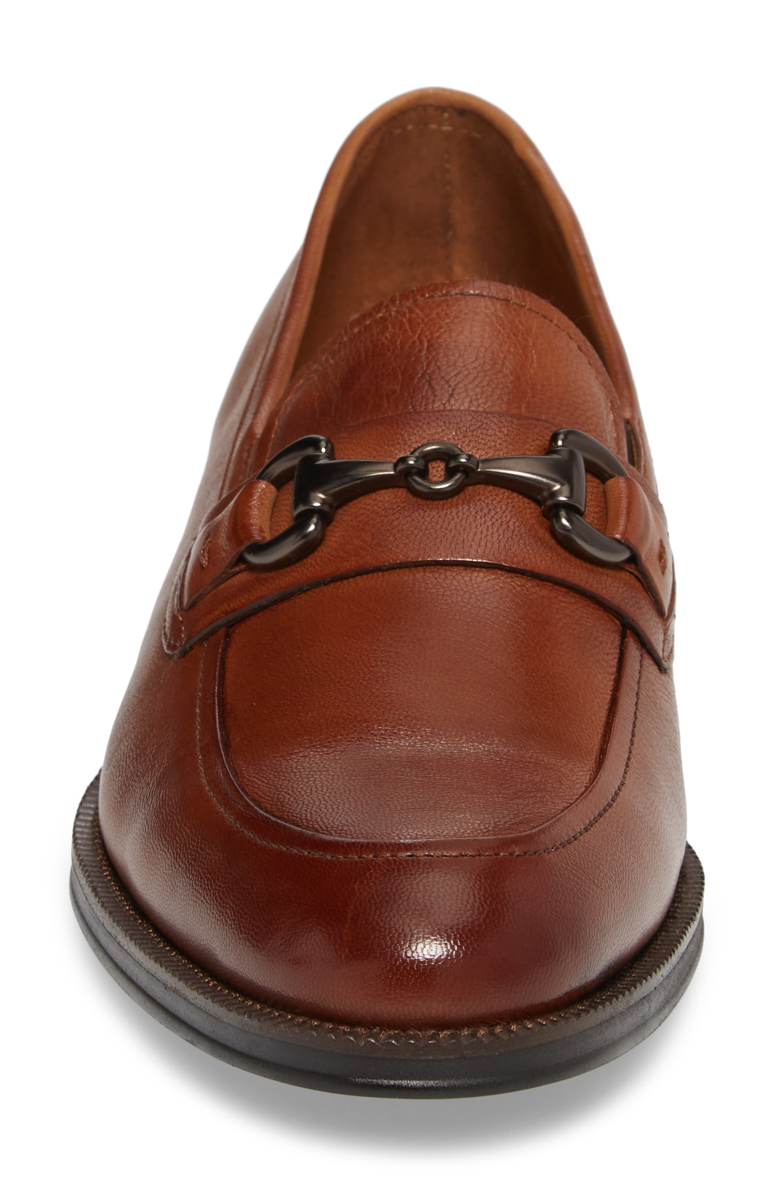 Brock Bit Loafer,                             Alternate thumbnail 4, color,                             Cognac Leather