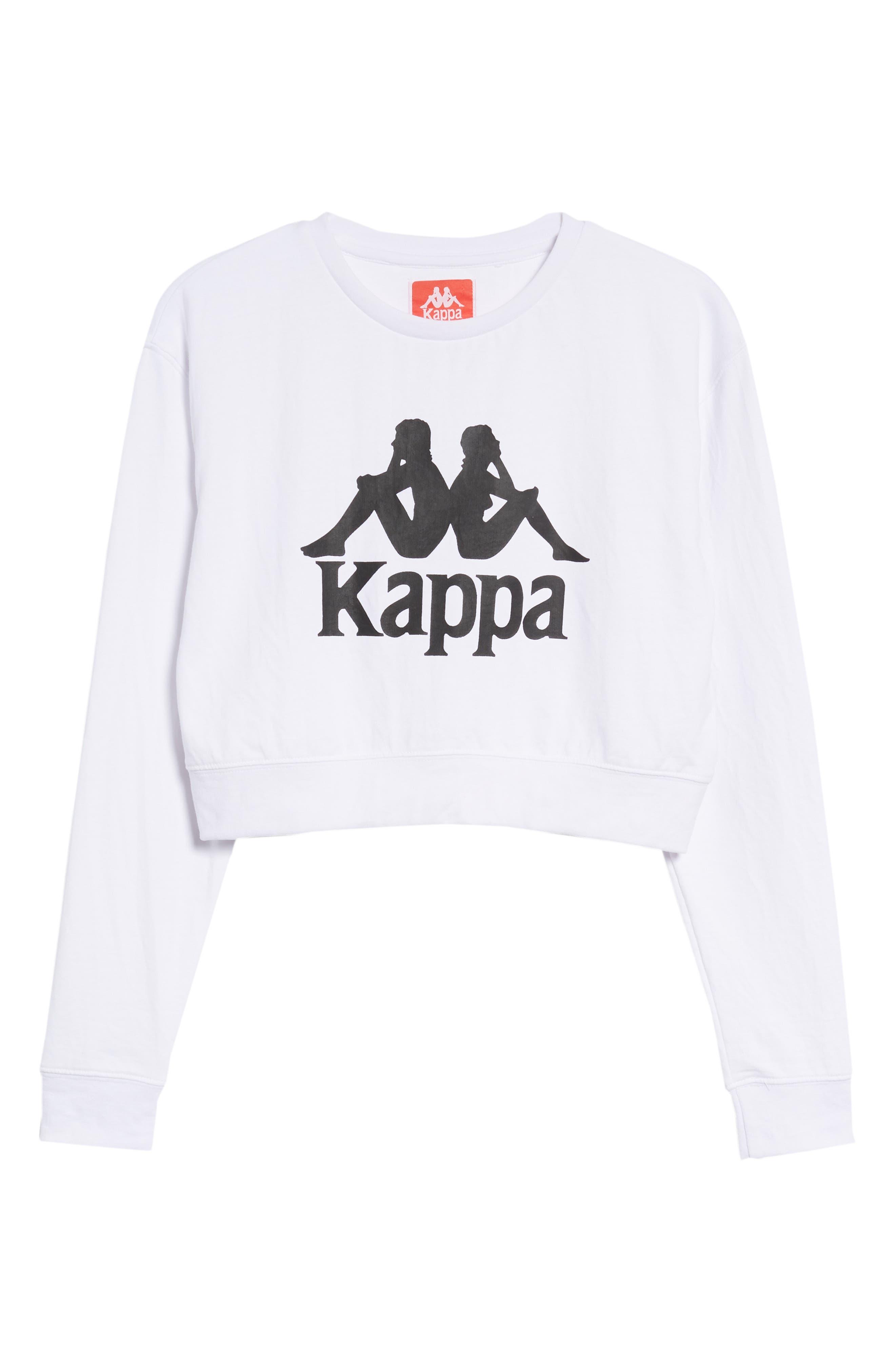 Bamm Bamm Crop Sweatshirt,                             Alternate thumbnail 6, color,                             White