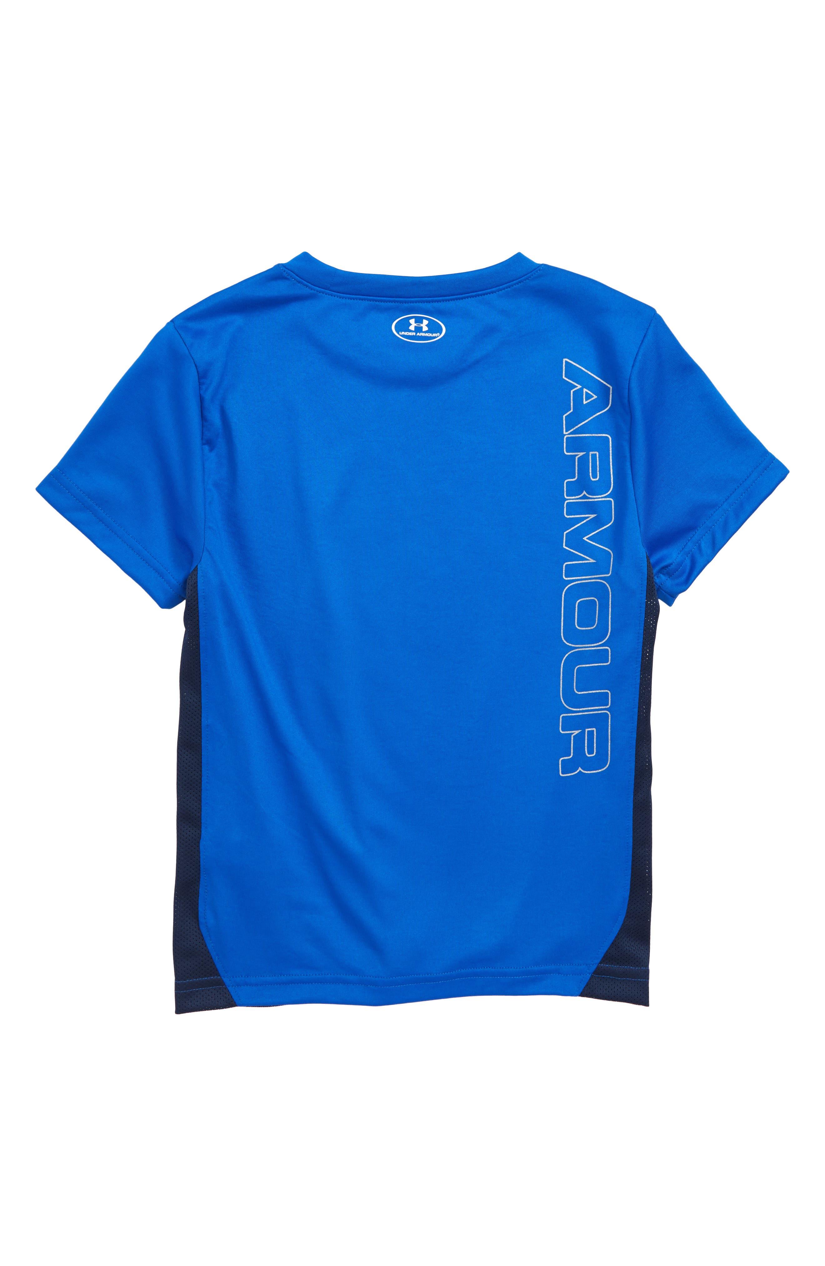 Mesh Tech HeatGear<sup>®</sup> T-Shirt,                             Alternate thumbnail 2, color,                             Ultra Blue