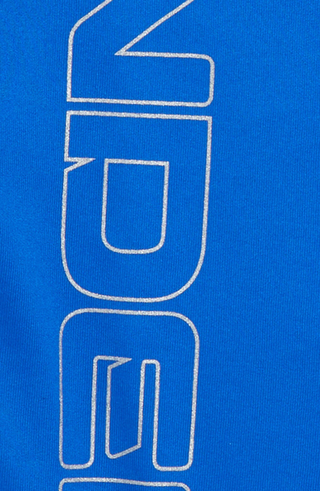Mesh Tech HeatGear<sup>®</sup> T-Shirt,                             Alternate thumbnail 3, color,                             Ultra Blue