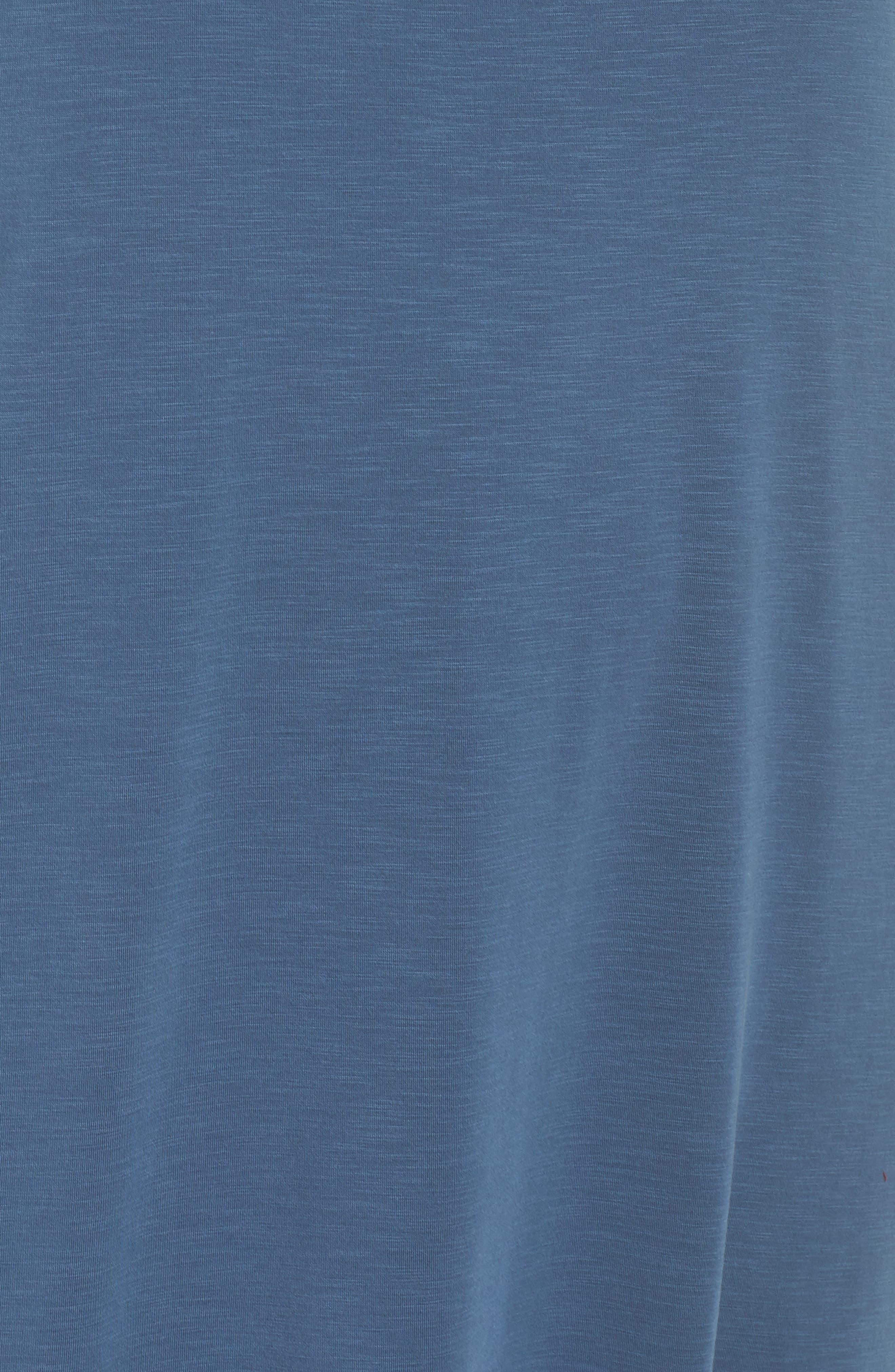 Boardwalk Jersey High/Low Dress,                             Alternate thumbnail 6, color,                             Washed Rich Indigo