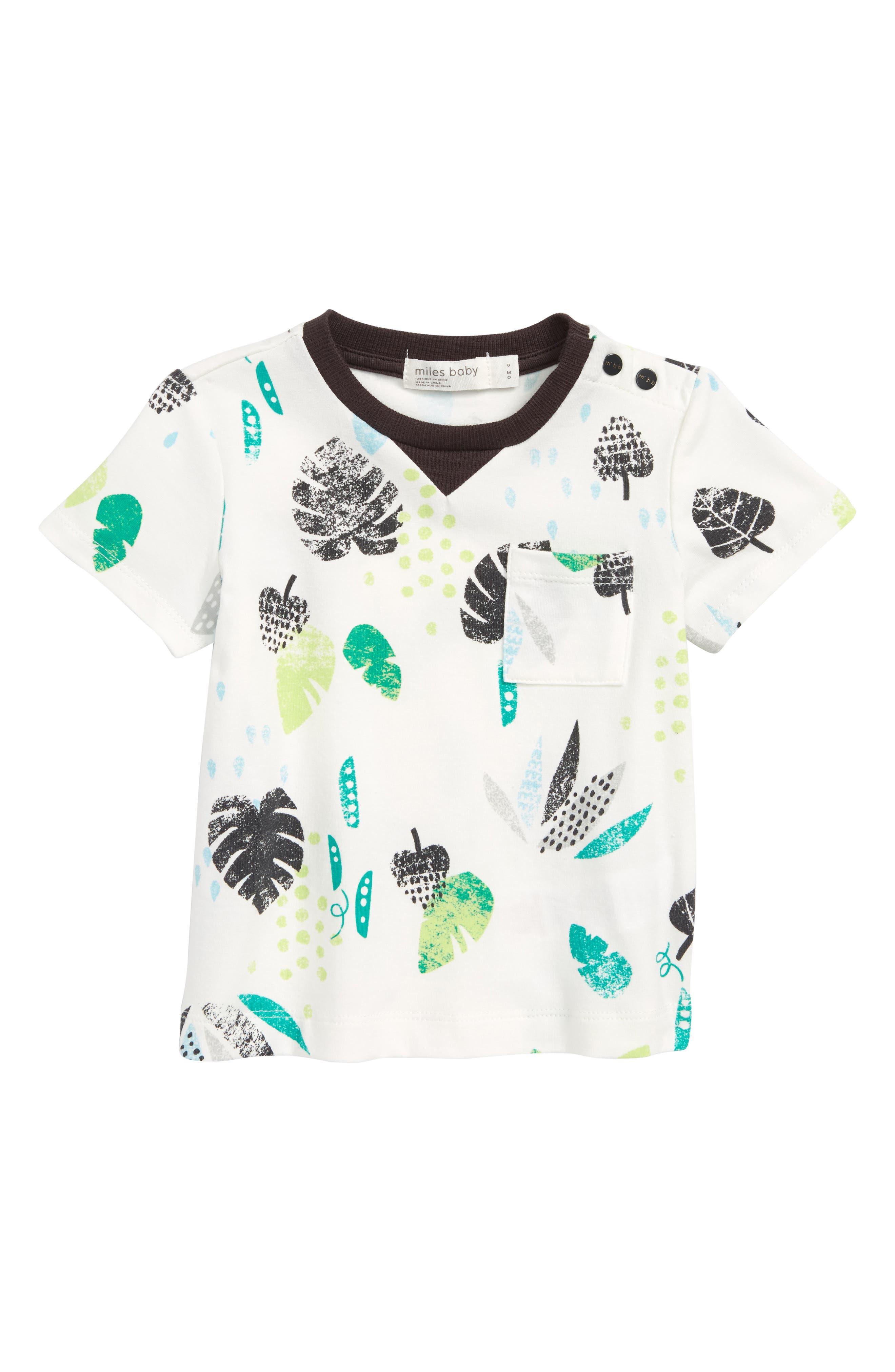 Print T-Shirt,                         Main,                         color, Off White