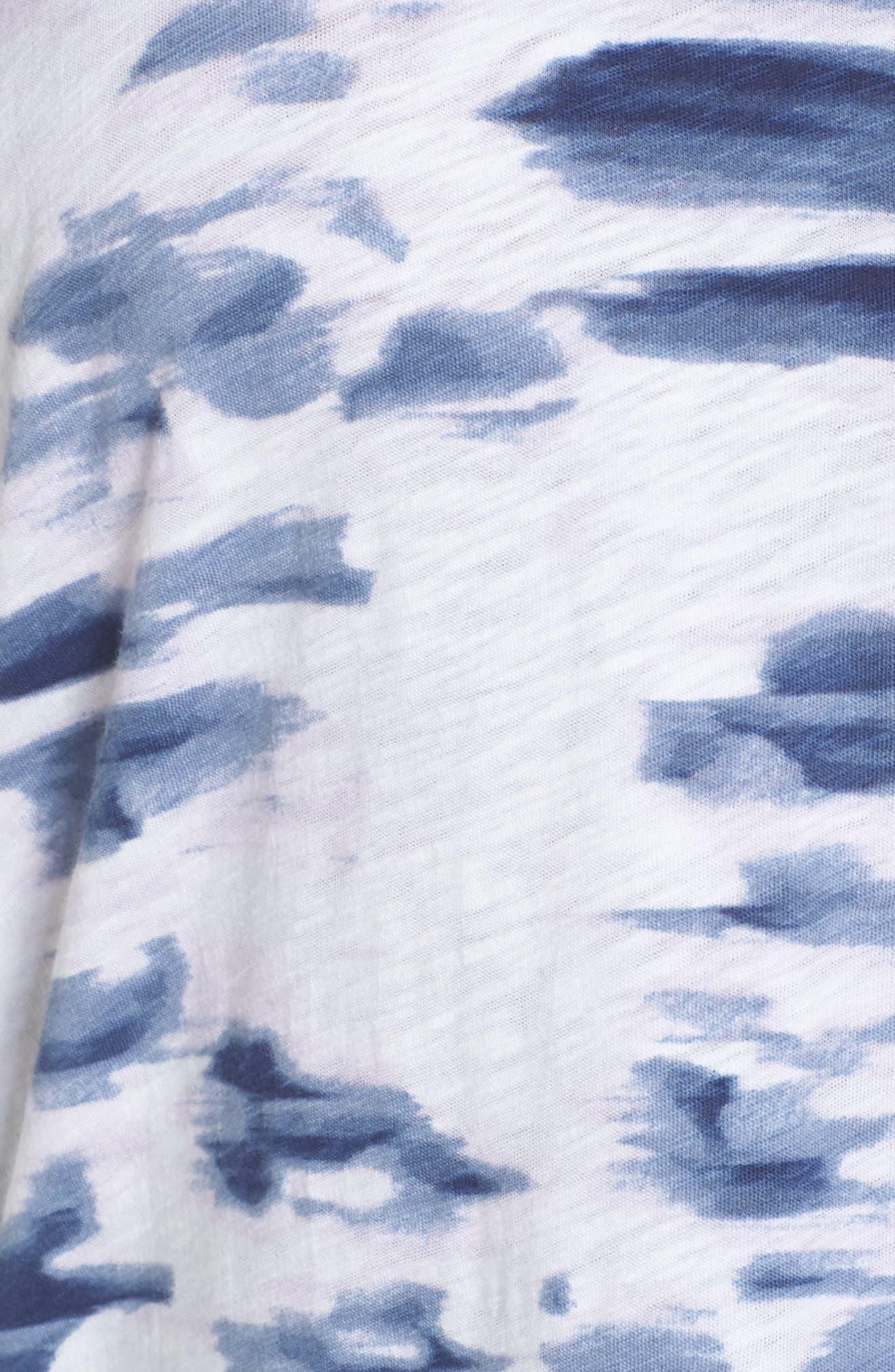 Off-Duty Dolman Sleeve Tee,                             Alternate thumbnail 5, color,                             Navy- Purple Tranquility