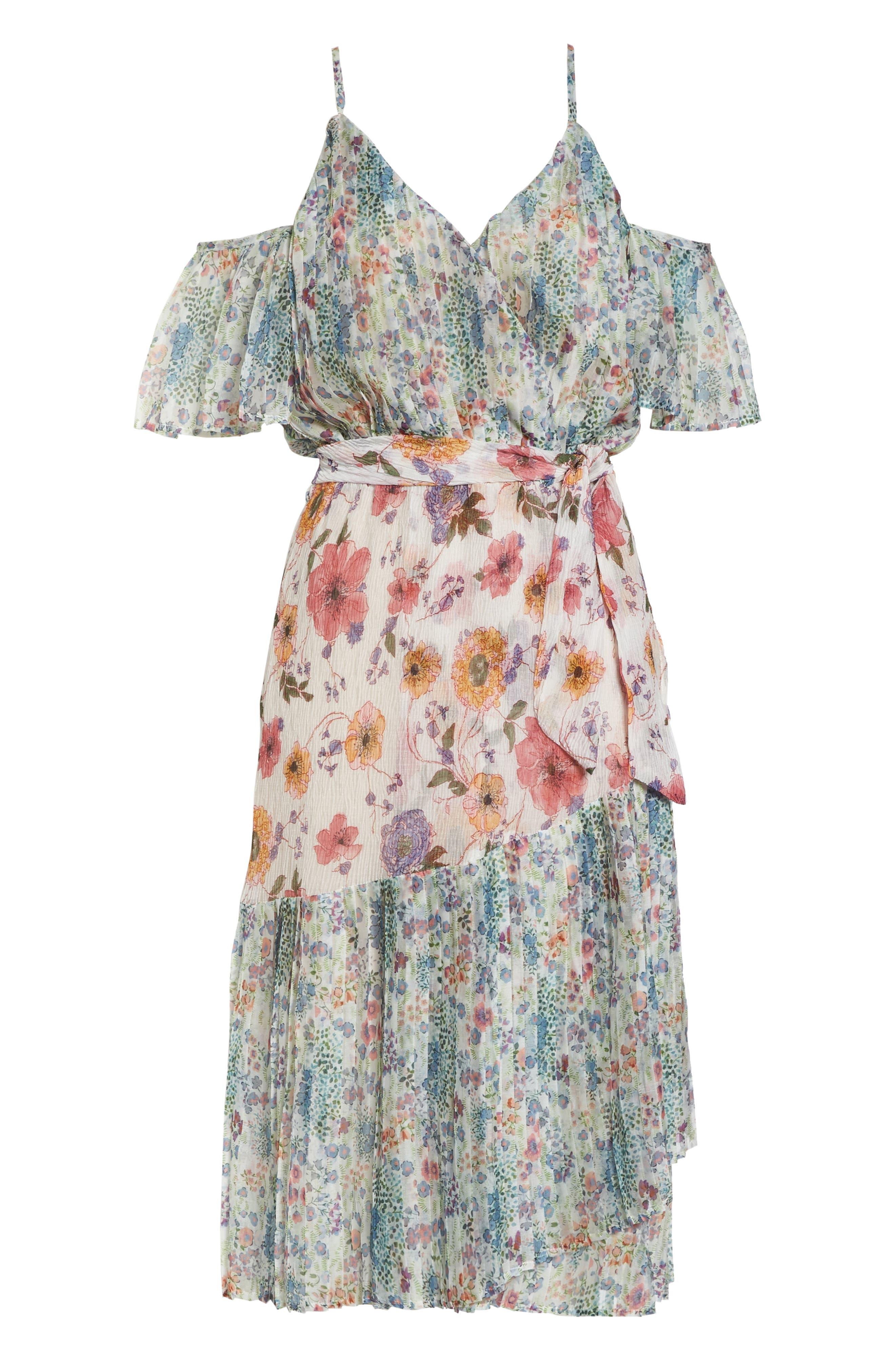 Furiosa Cold Shoulder Dress,                             Alternate thumbnail 7, color,                             Furiosa Multi