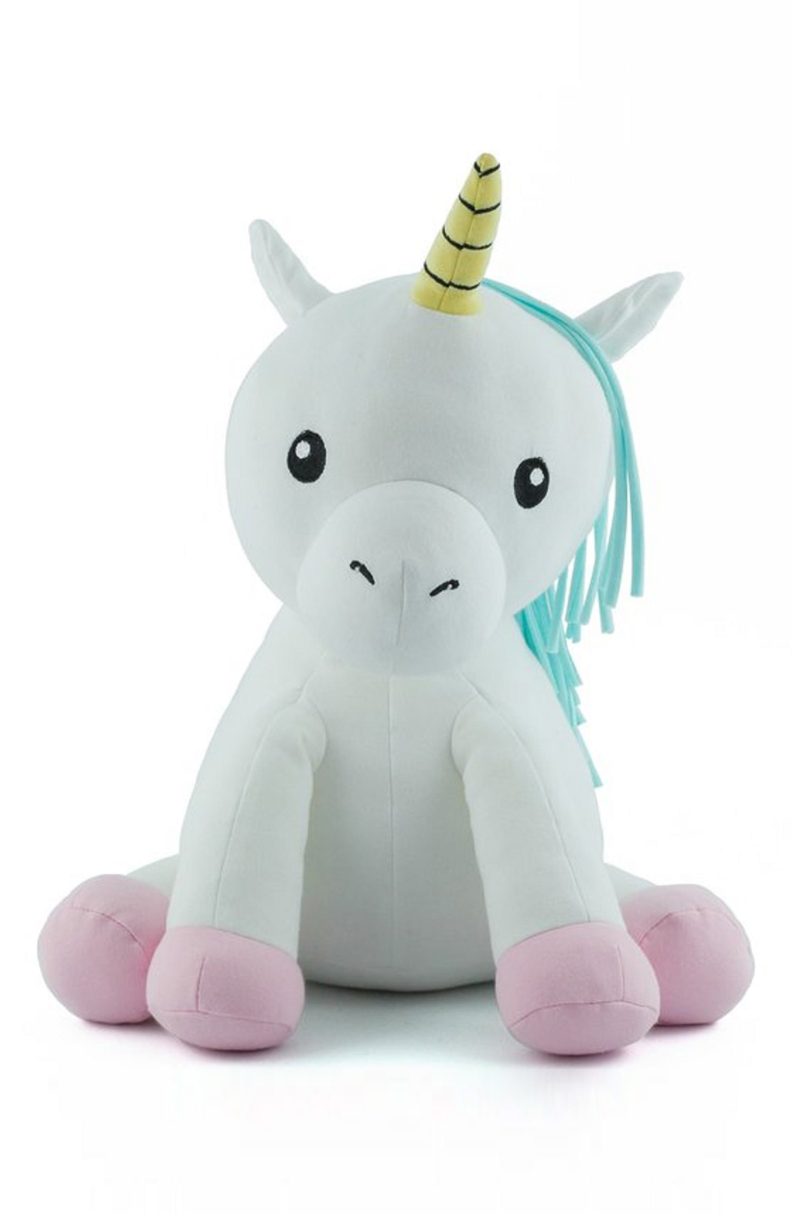 Small Cupcake Unicorn Stuffed Animal,                         Main,                         color, White