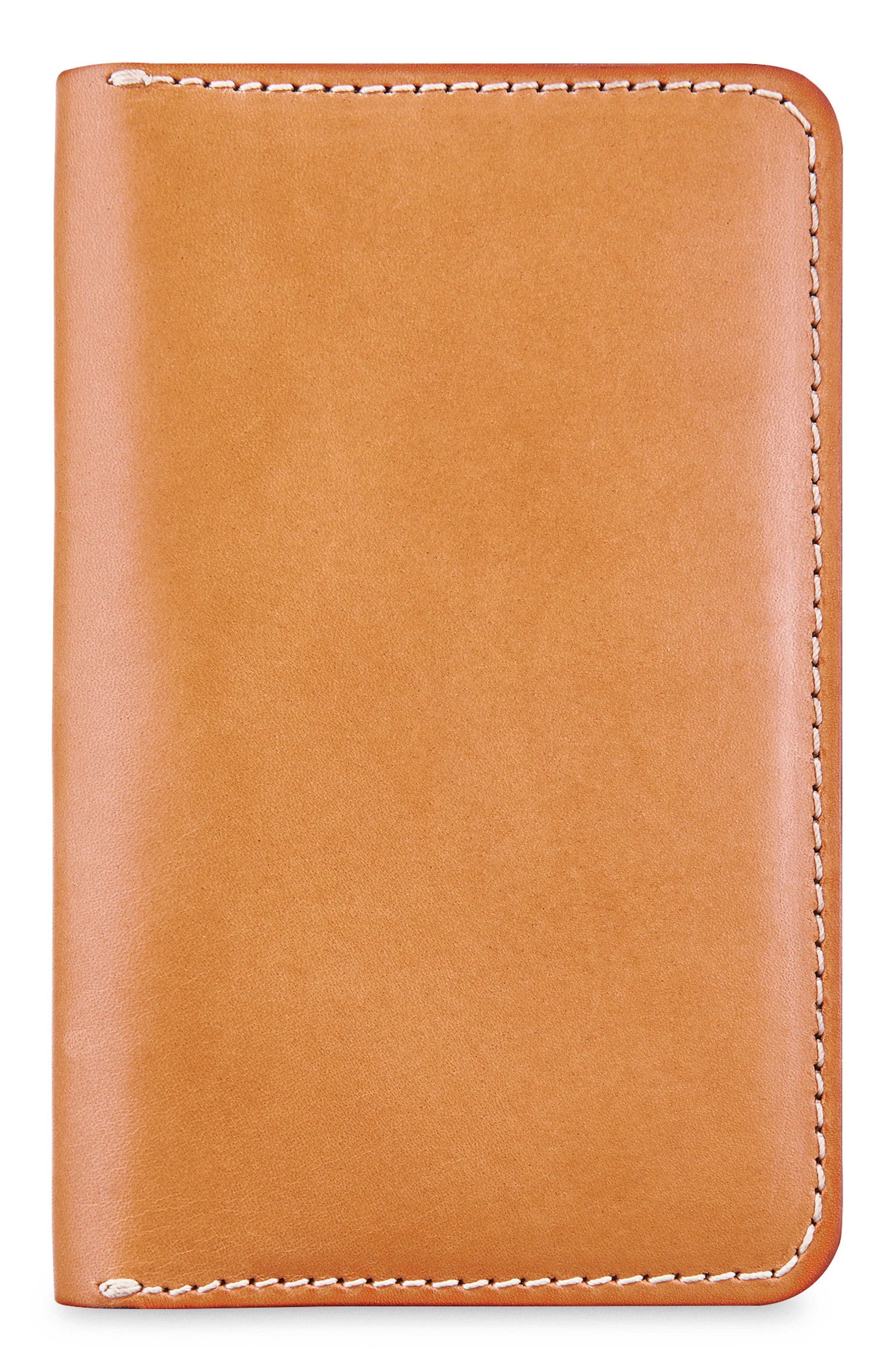 Leather Passport Wallet,                         Main,                         color, Tanned Vegetable