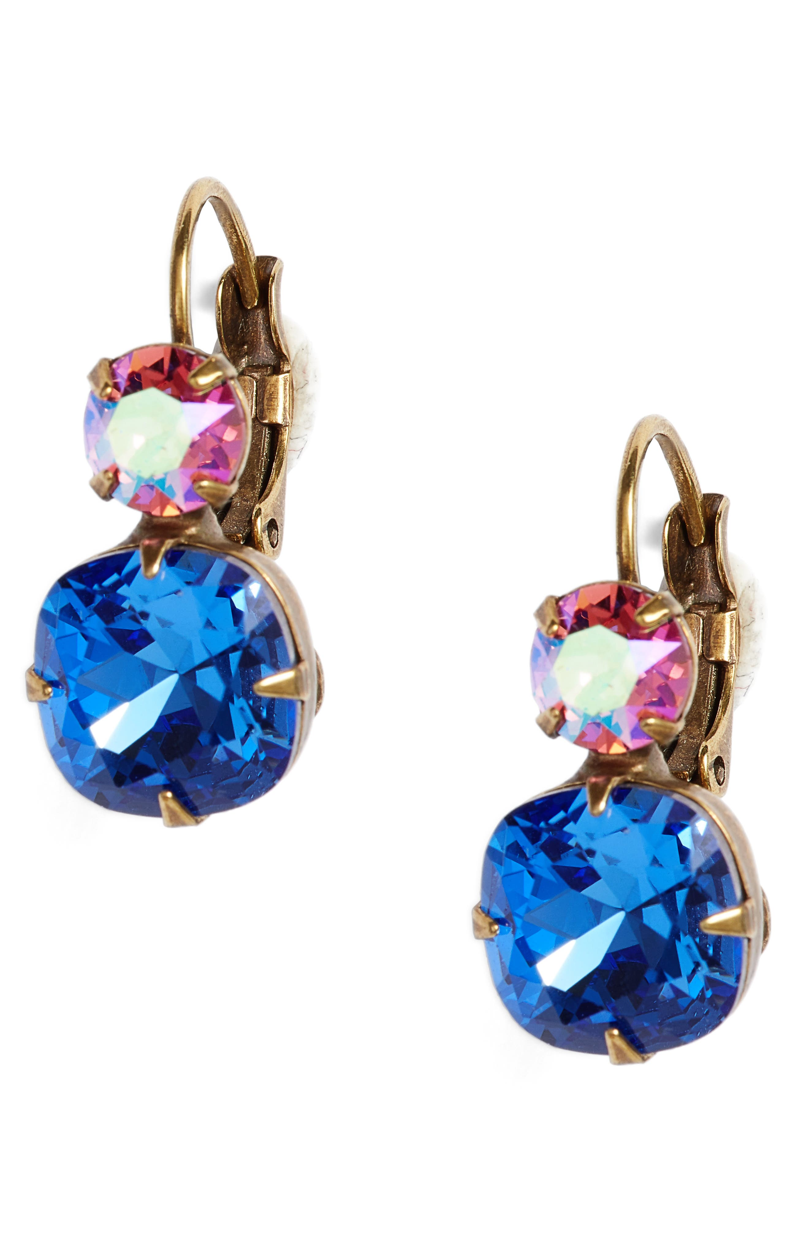 Roundabout Crystal Drop Earrings,                             Main thumbnail 1, color,                             Blue
