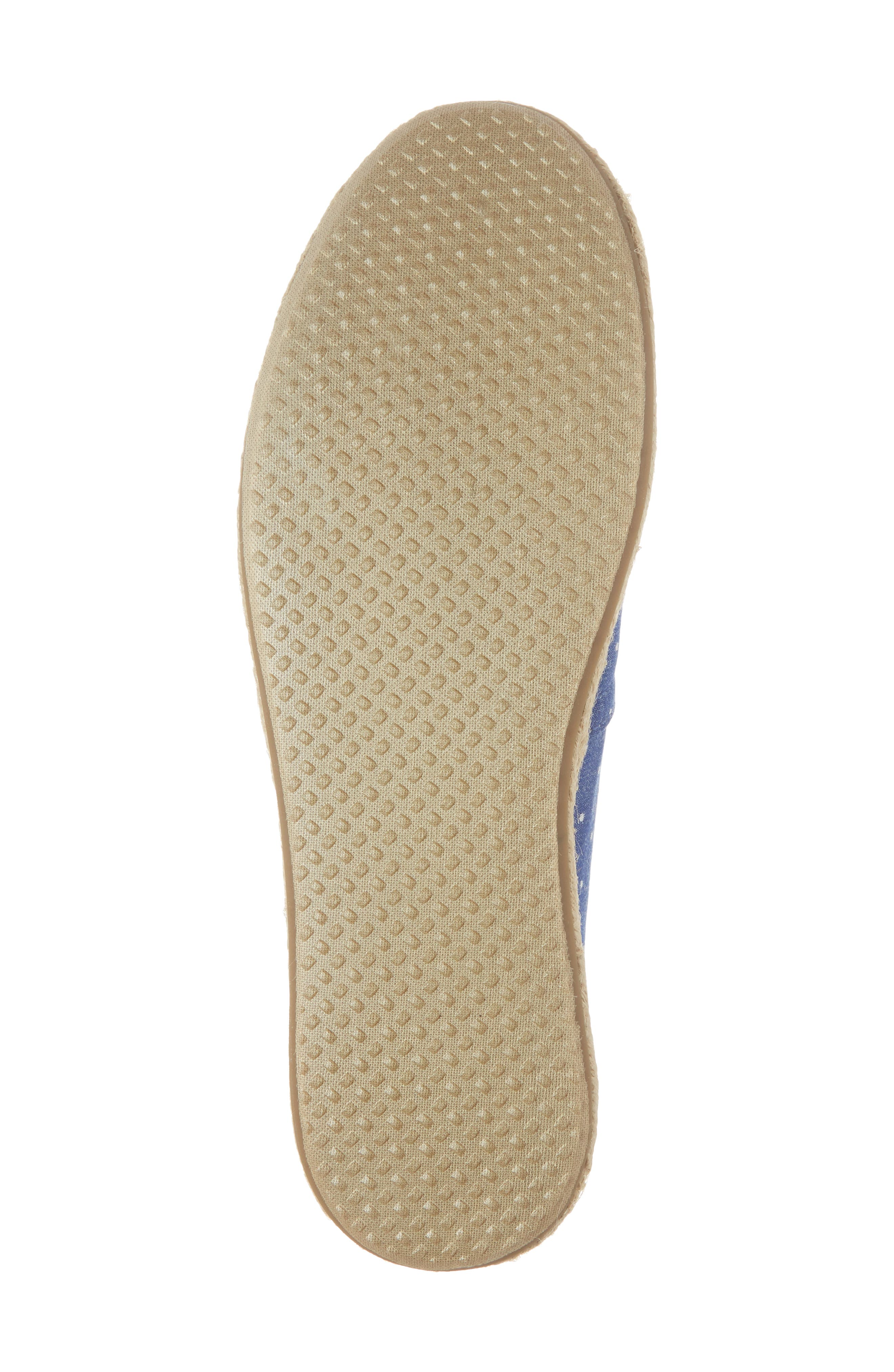 Deconstructed Alpargata Slip-On,                             Alternate thumbnail 6, color,                             Blue Dot Fabric