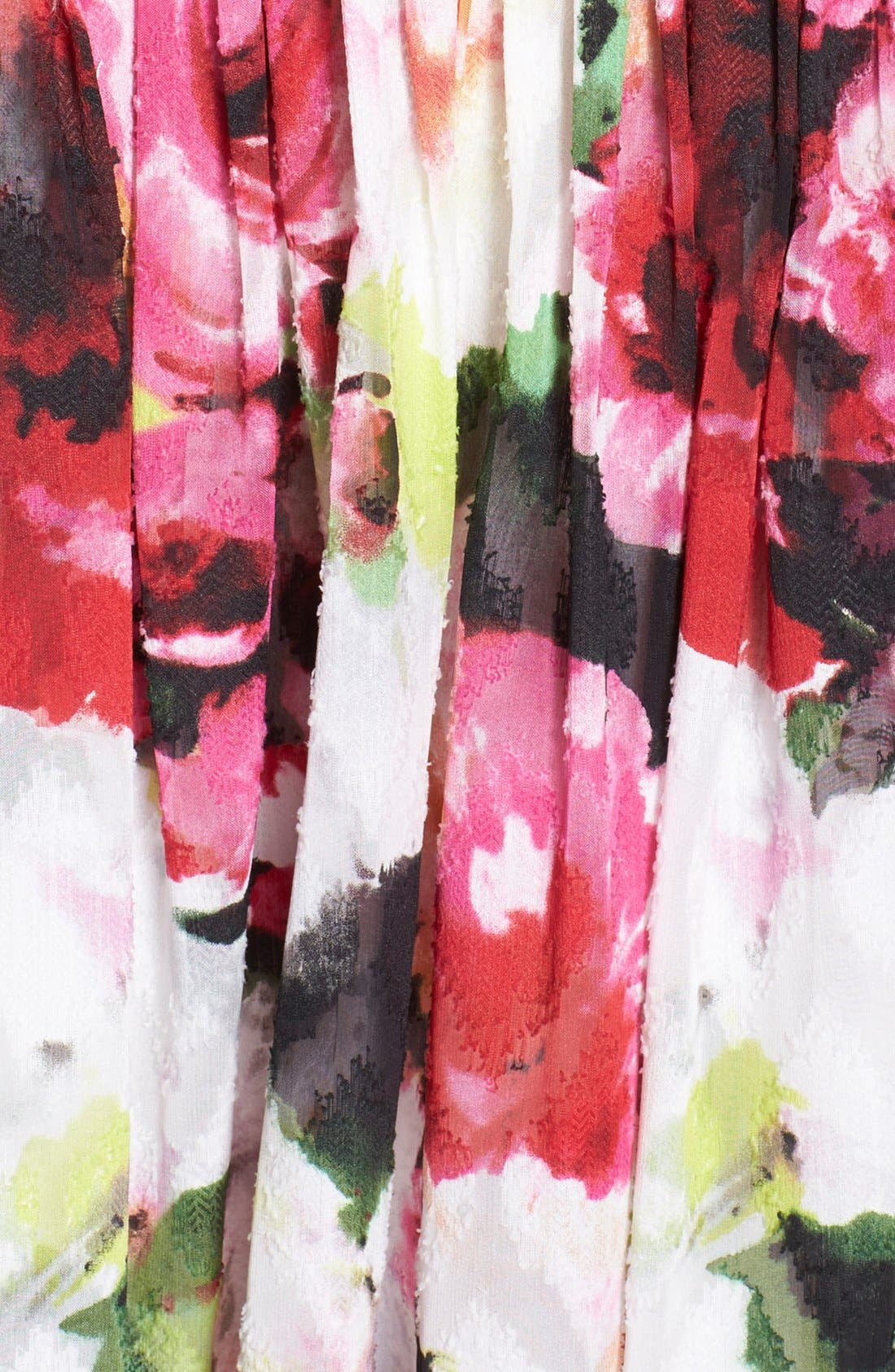 Alternate Image 4  - Adrianna Papell Floral Print Pleated Fit & Flare Dress