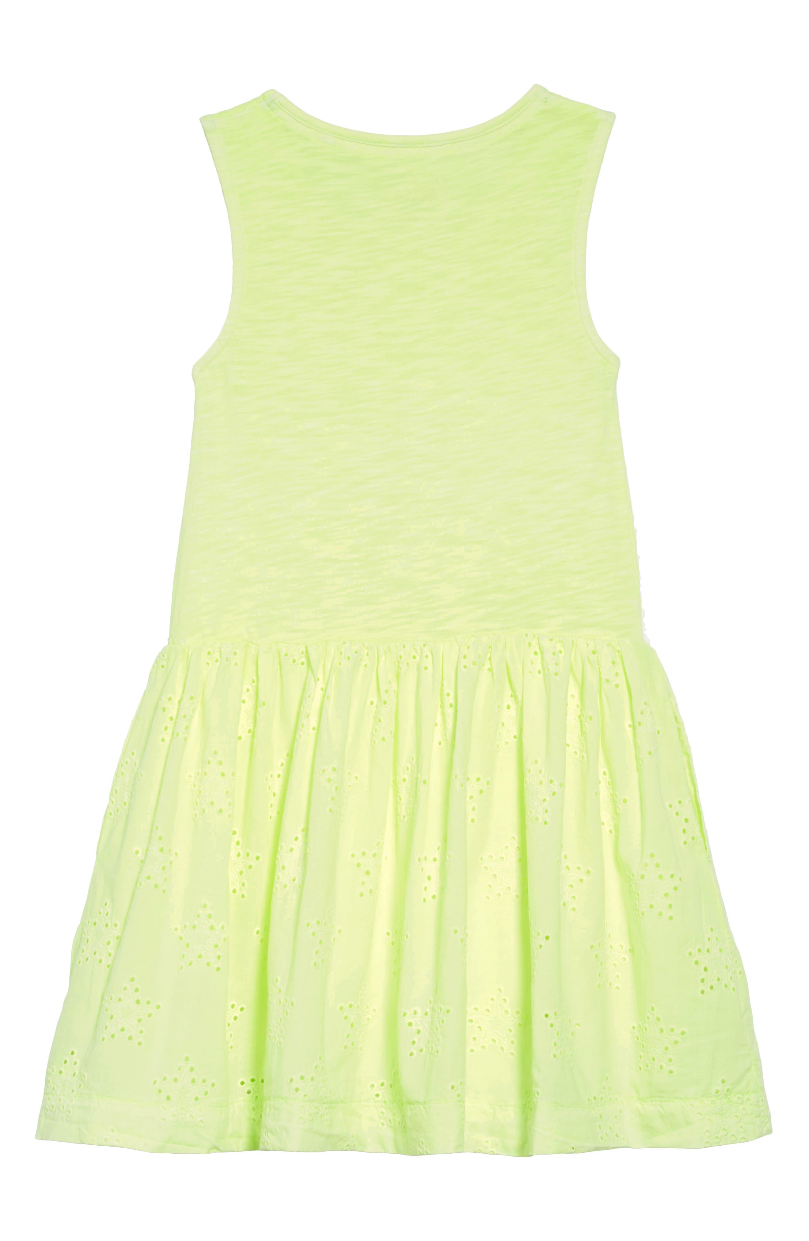 Jersey & Woven Dress,                             Alternate thumbnail 2, color,                             Yelacid Yellow