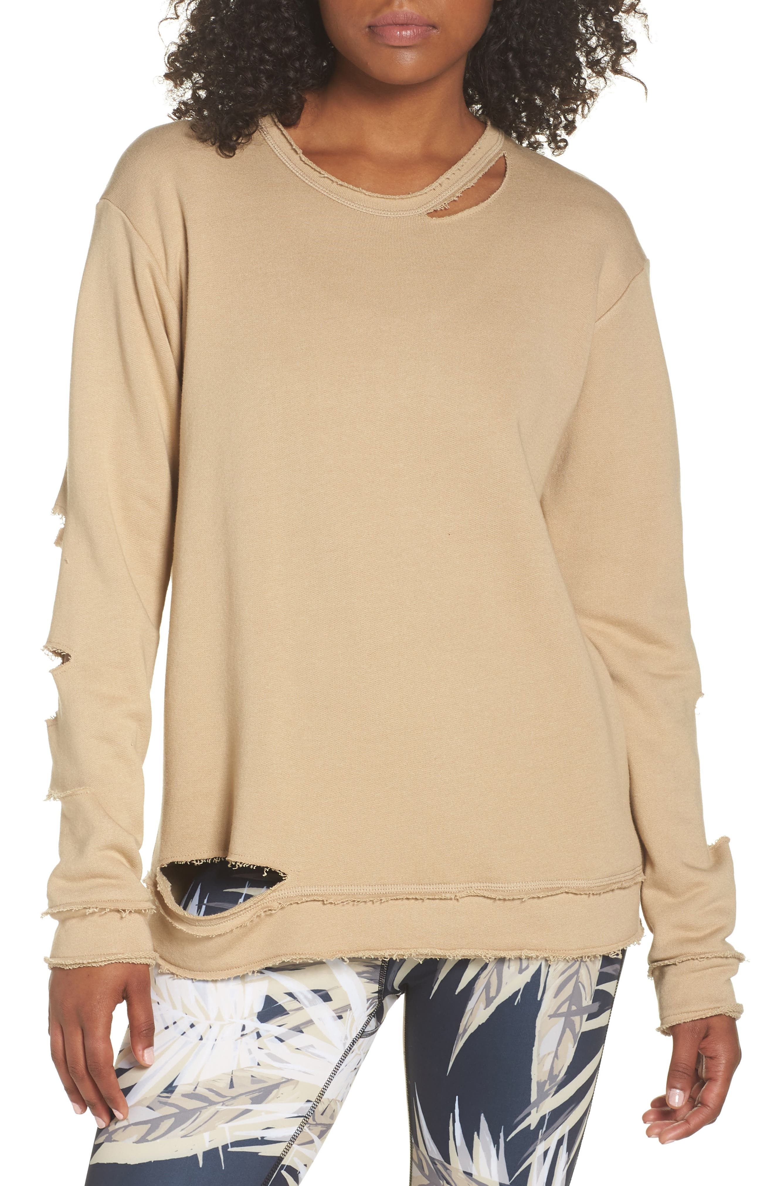 Cypher Destroyed Sweatshirt,                             Main thumbnail 1, color,                             Slate