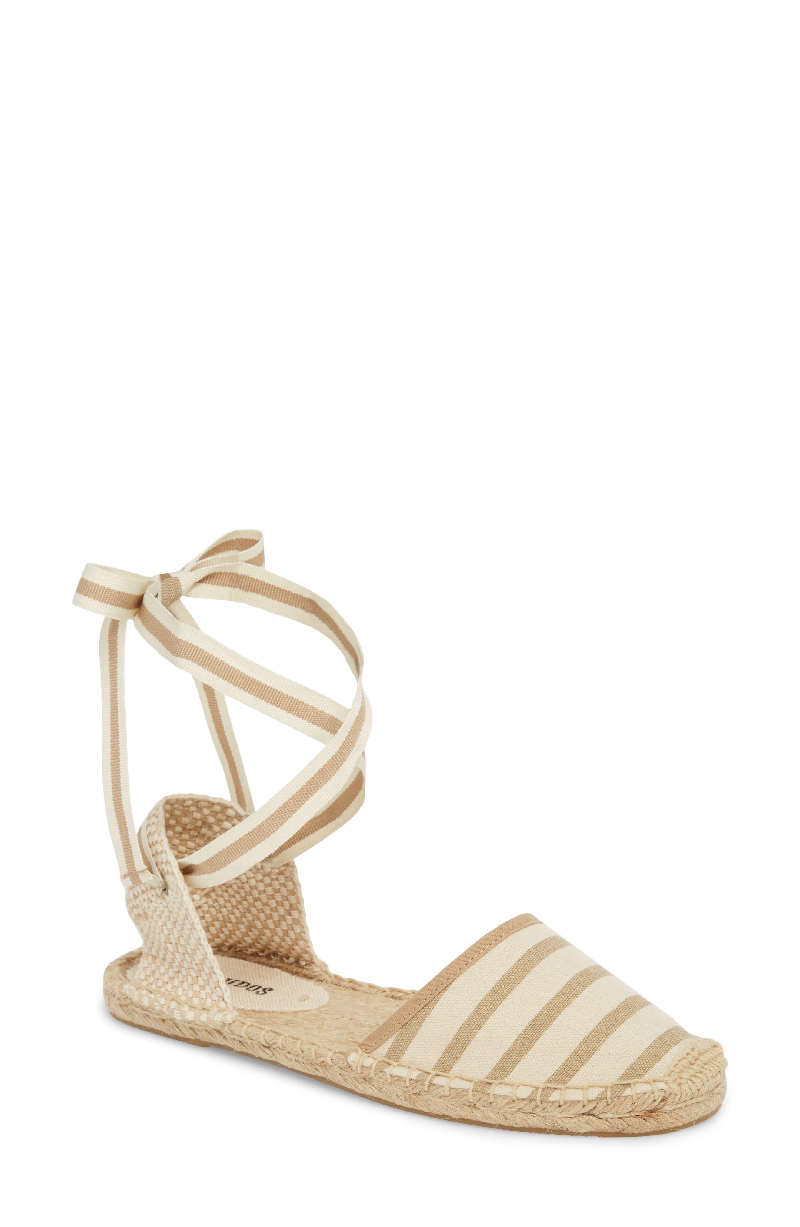 Lace-Up Espadrille Sandal,                         Main,                         color, Natural/ Tan