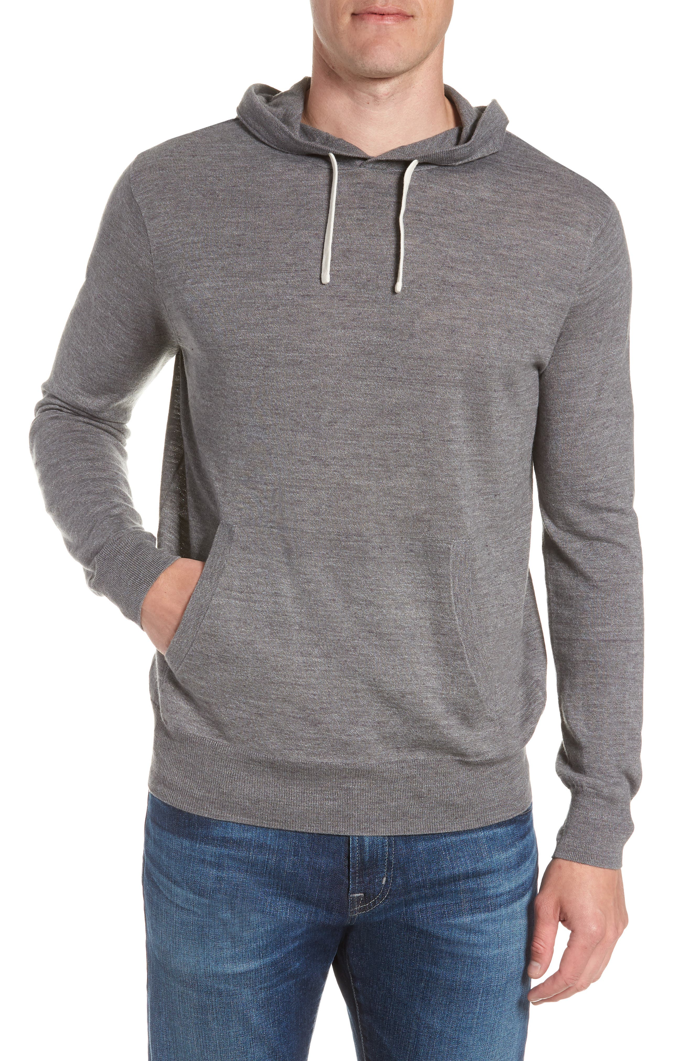 Lightweight Pullover Hoodie,                             Main thumbnail 1, color,                             Heather Pewter