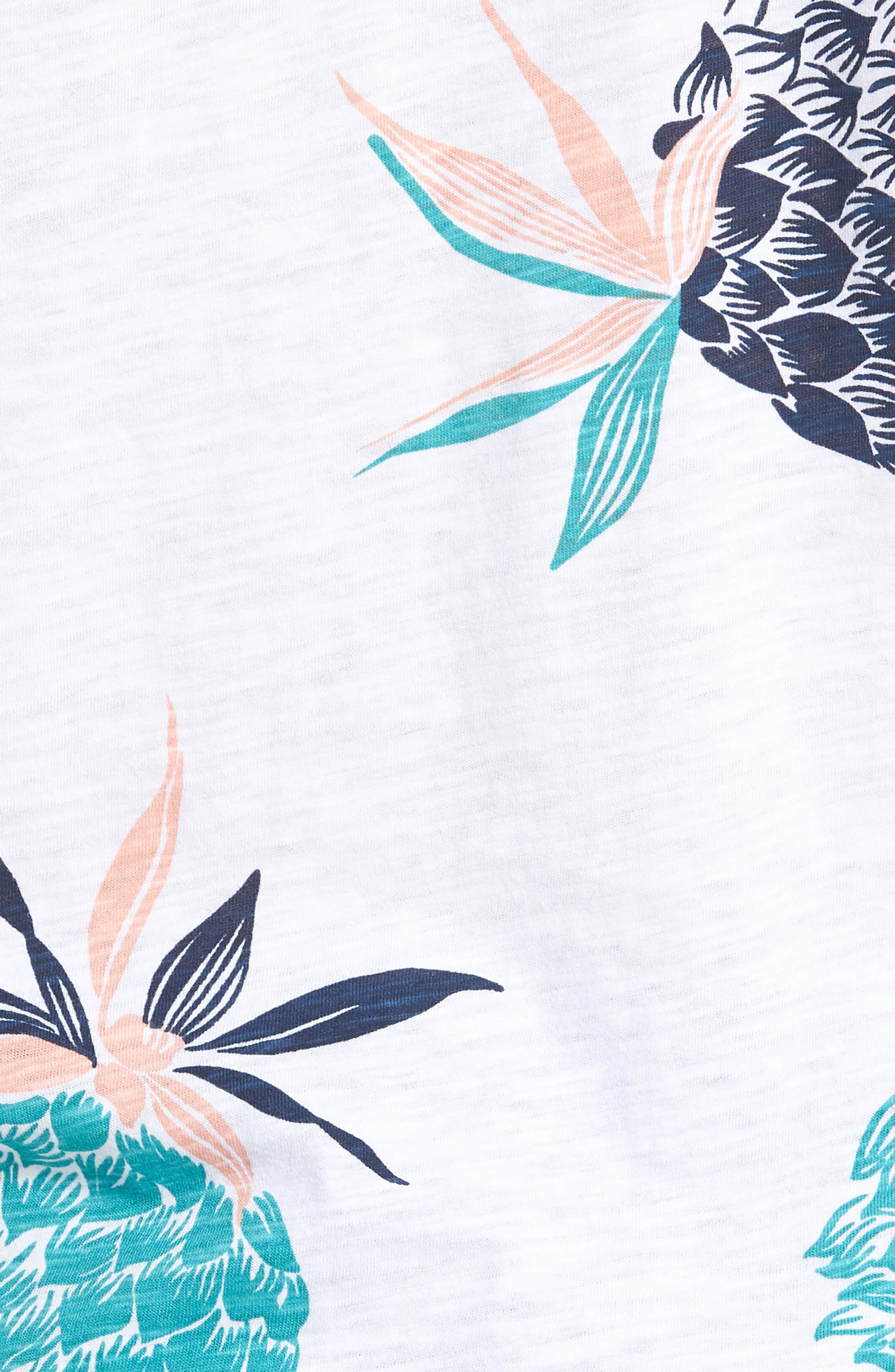 Pineapple Party Slim Fit T-Shirt,                             Alternate thumbnail 5, color,                             White/ Latigo Bay/ Sorbet