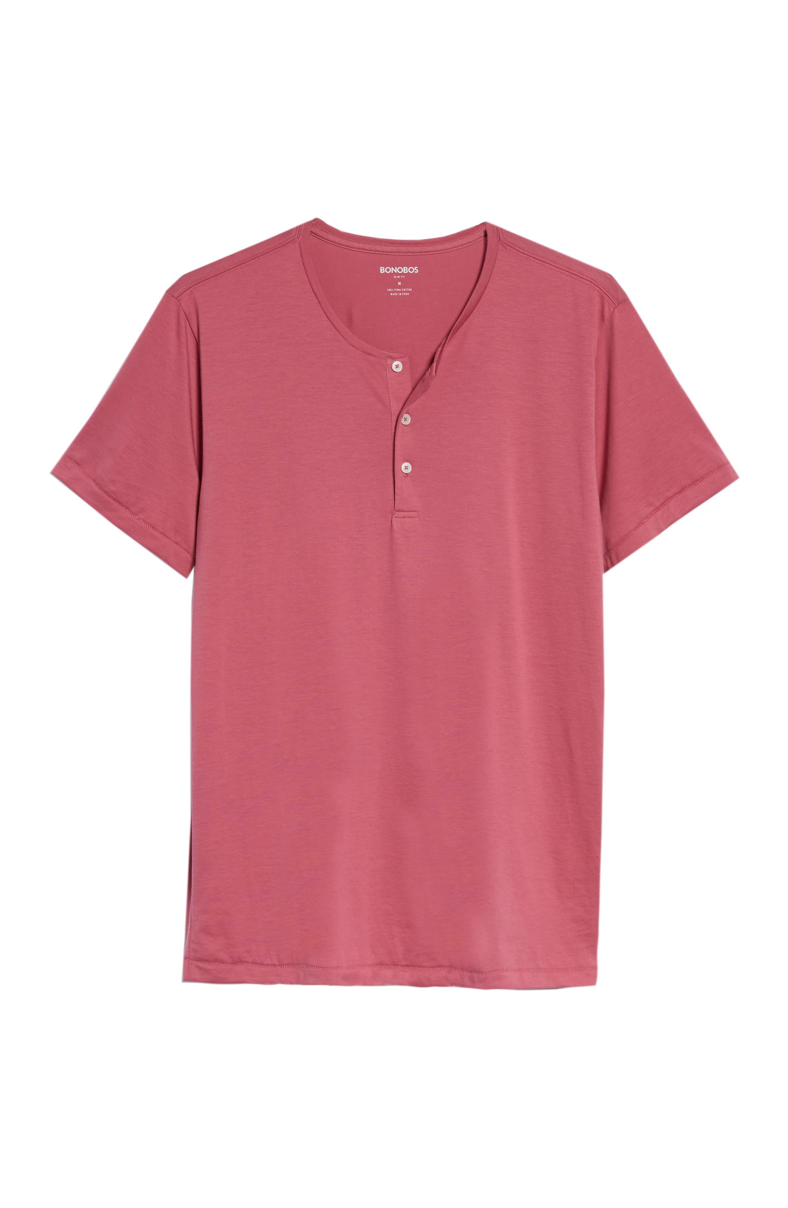 Superfine Henley T-Shirt,                             Alternate thumbnail 4, color,                             Malaga