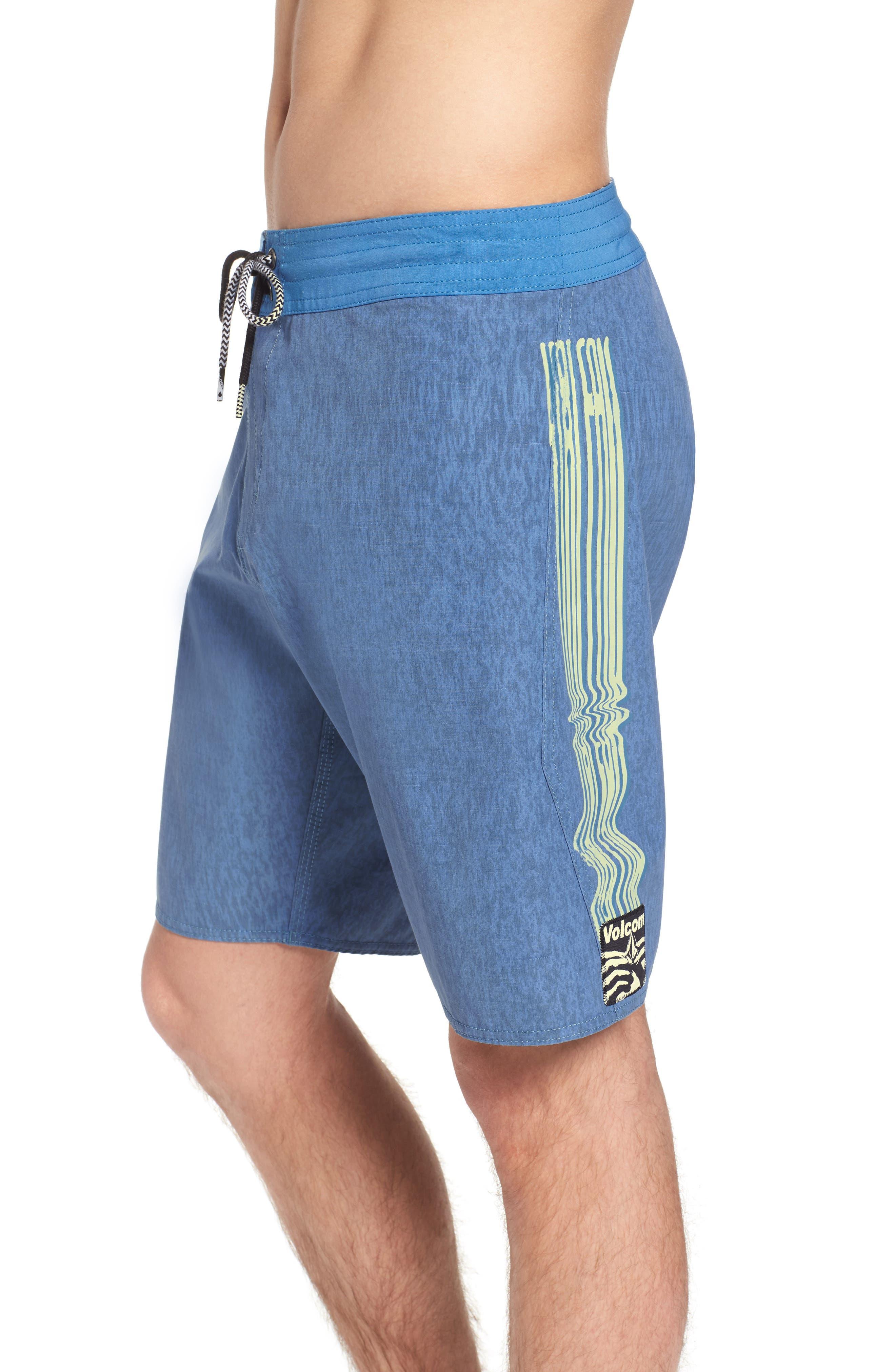Side Fi Stoney Board Shorts,                             Alternate thumbnail 4, color,                             Blue Free