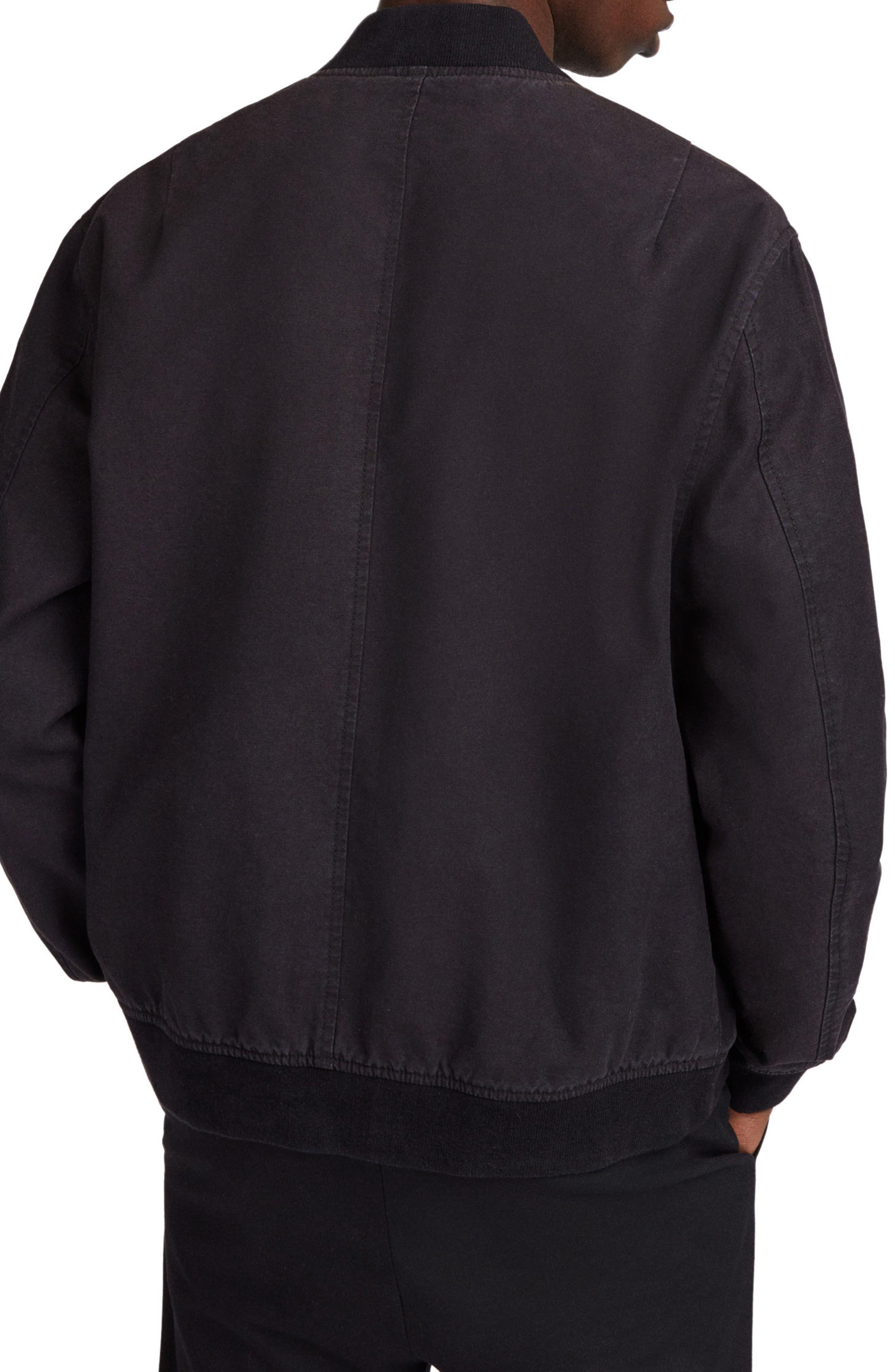 Moyne Bomber Jacket,                             Alternate thumbnail 2, color,                             Black