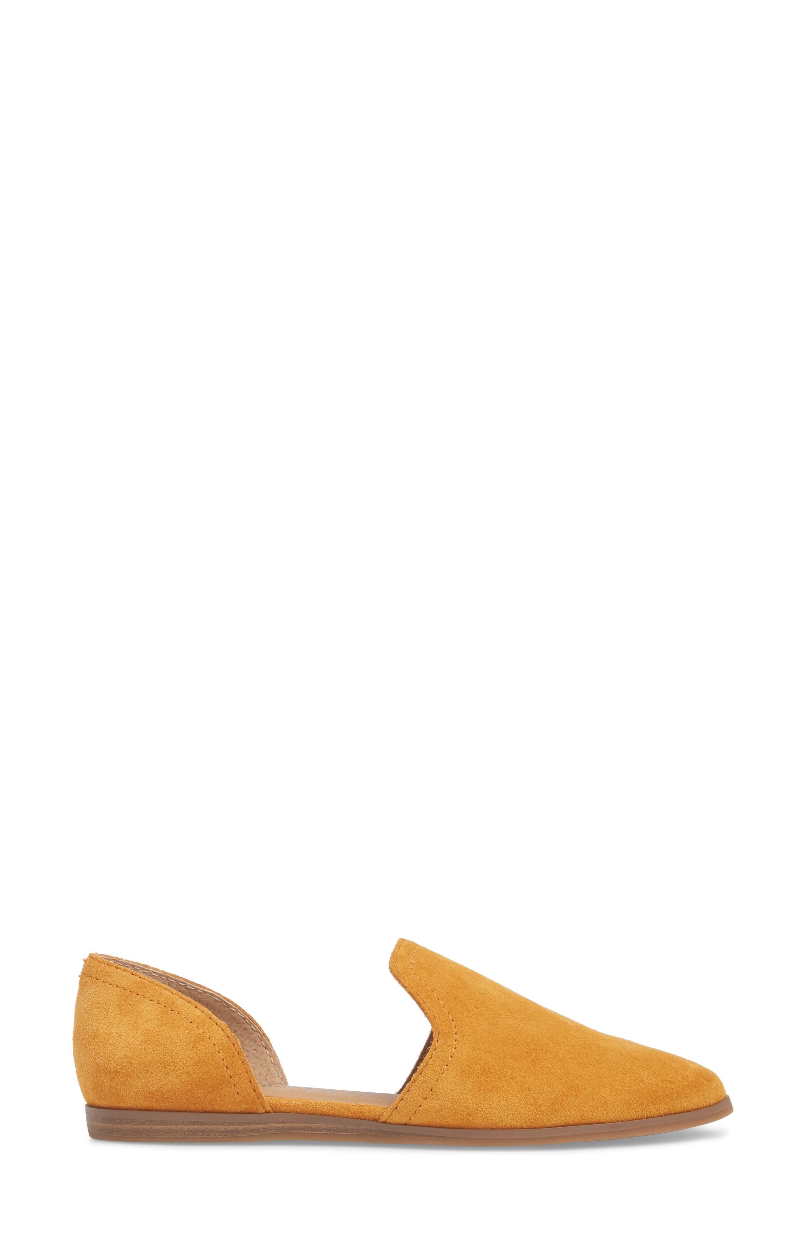 Jinree Flat,                             Alternate thumbnail 3, color,                             Inca Gold Suede