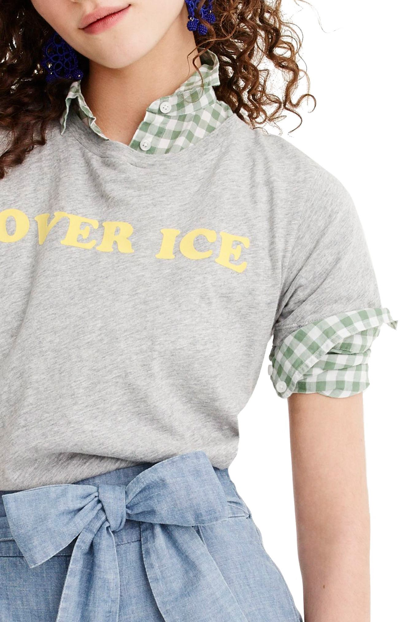 Over Ice Tee,                         Main,                         color, Heather Grey