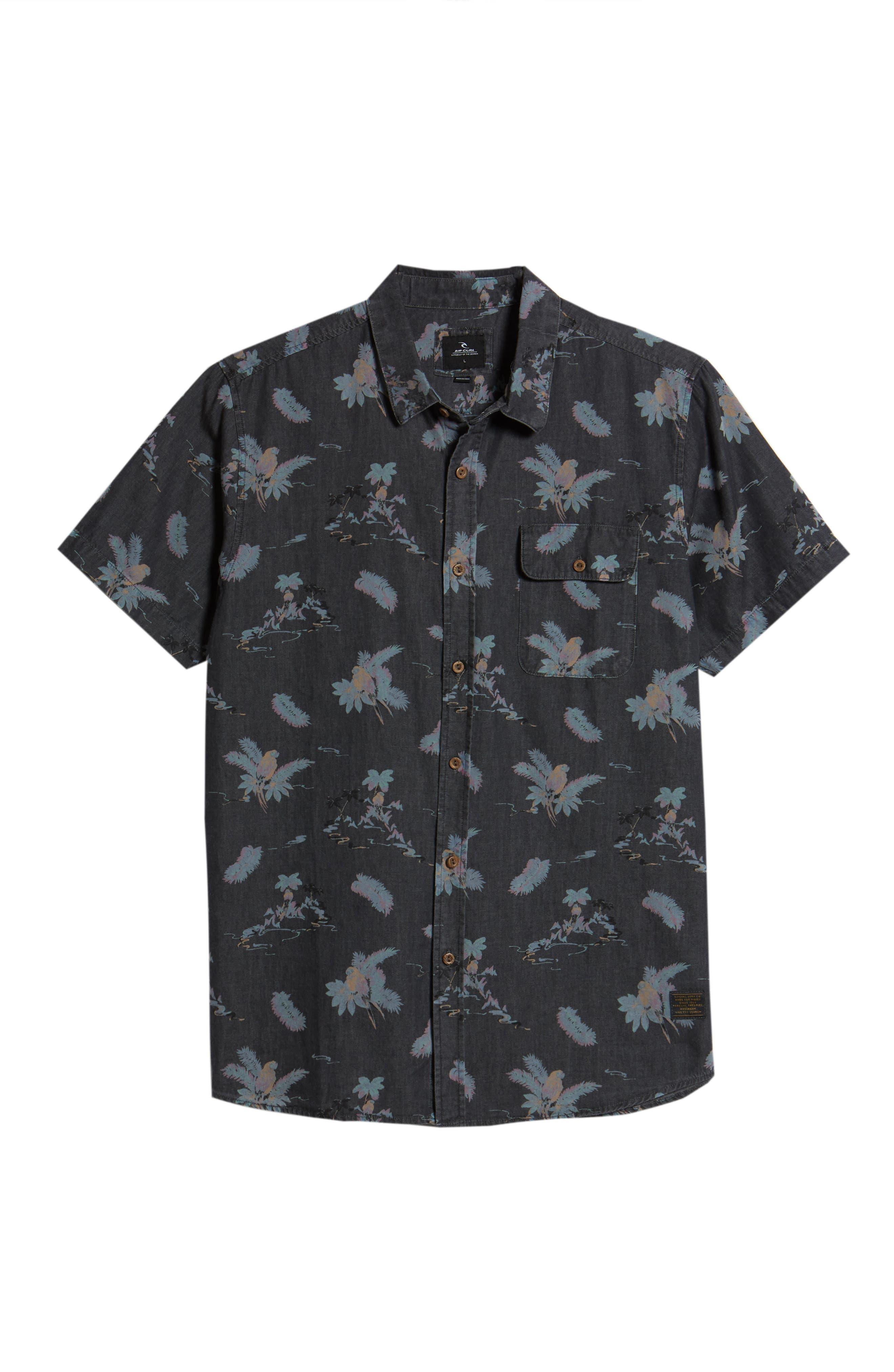 Meledrone Woven Shirt,                             Alternate thumbnail 6, color,                             Charcoal Grey