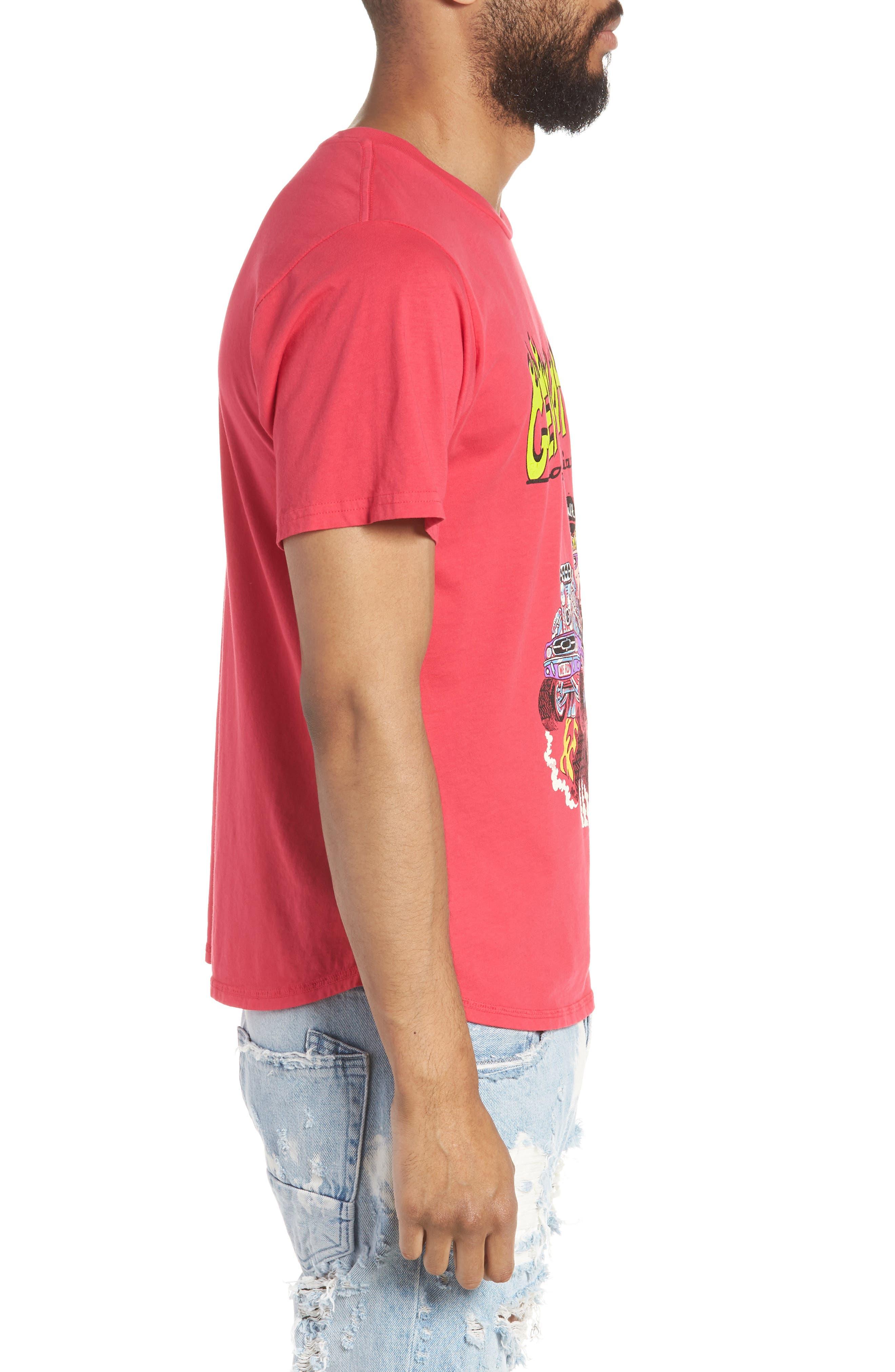 Generation Appropriation Crewneck T-Shirt,                             Alternate thumbnail 3, color,                             Punk Pink