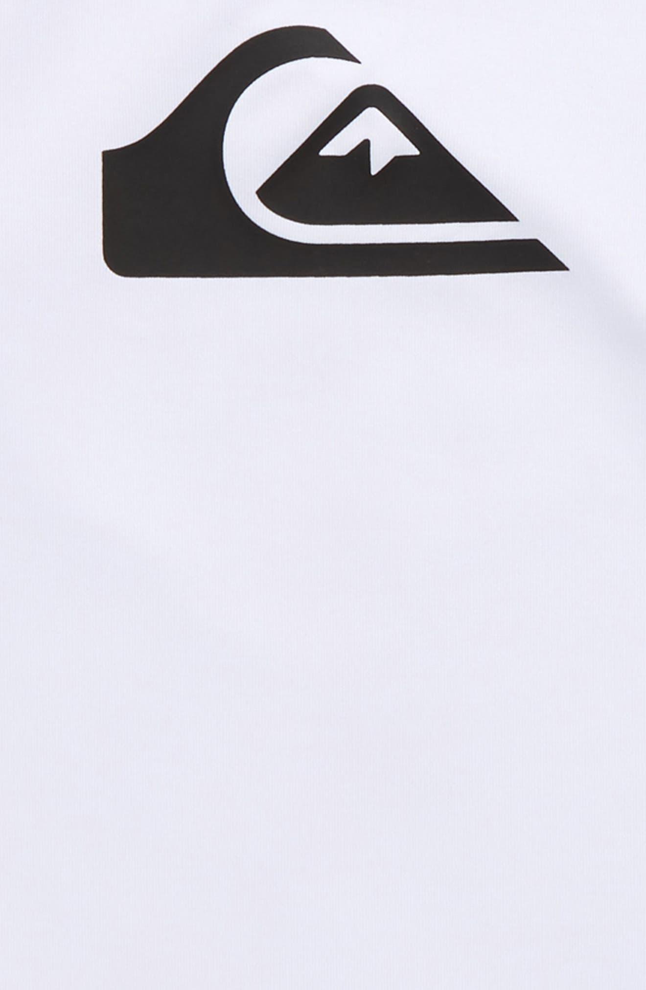 All Time Long Sleeve Rashguard Top,                             Alternate thumbnail 2, color,                             White