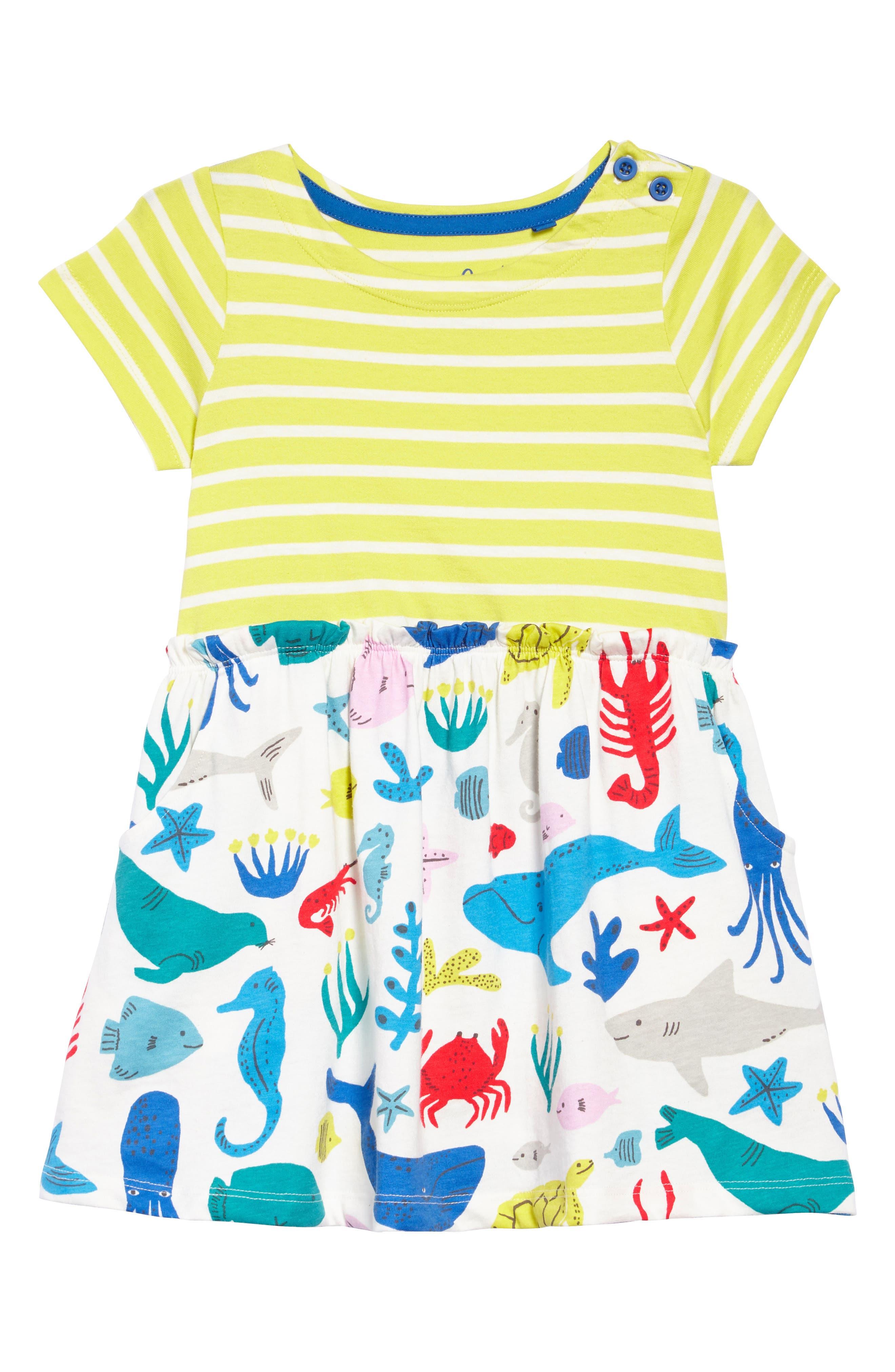 Bright Hotchpotch Jersey Dress,                             Main thumbnail 1, color,                             Ivoyellow/ Ivory Under The Sea