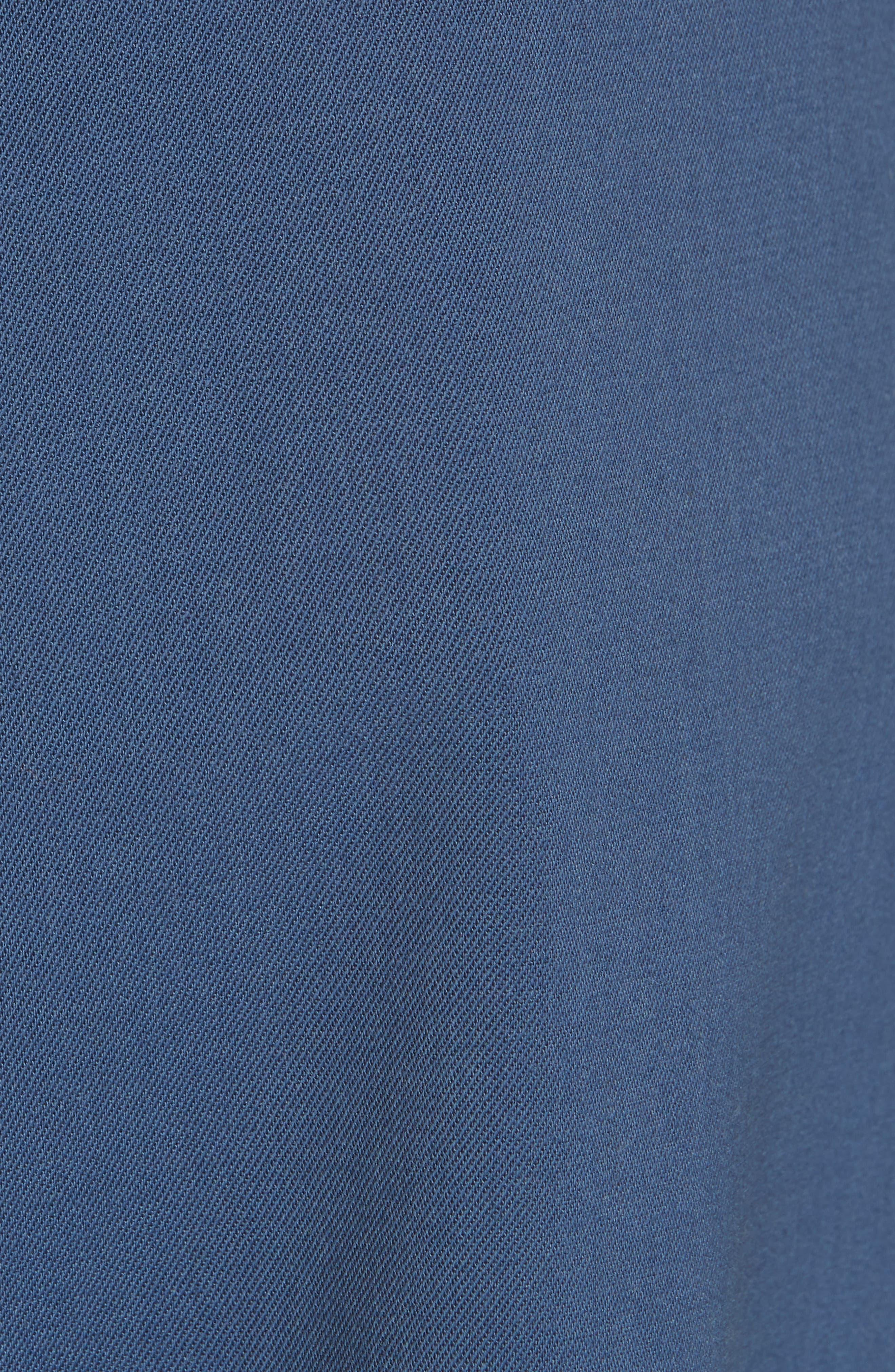 Tie Waist Paperbag Pants,                             Alternate thumbnail 5, color,                             Blue