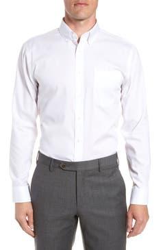 Nordstrom Mens Shop Trim Fit Non Iron Dress Shirt