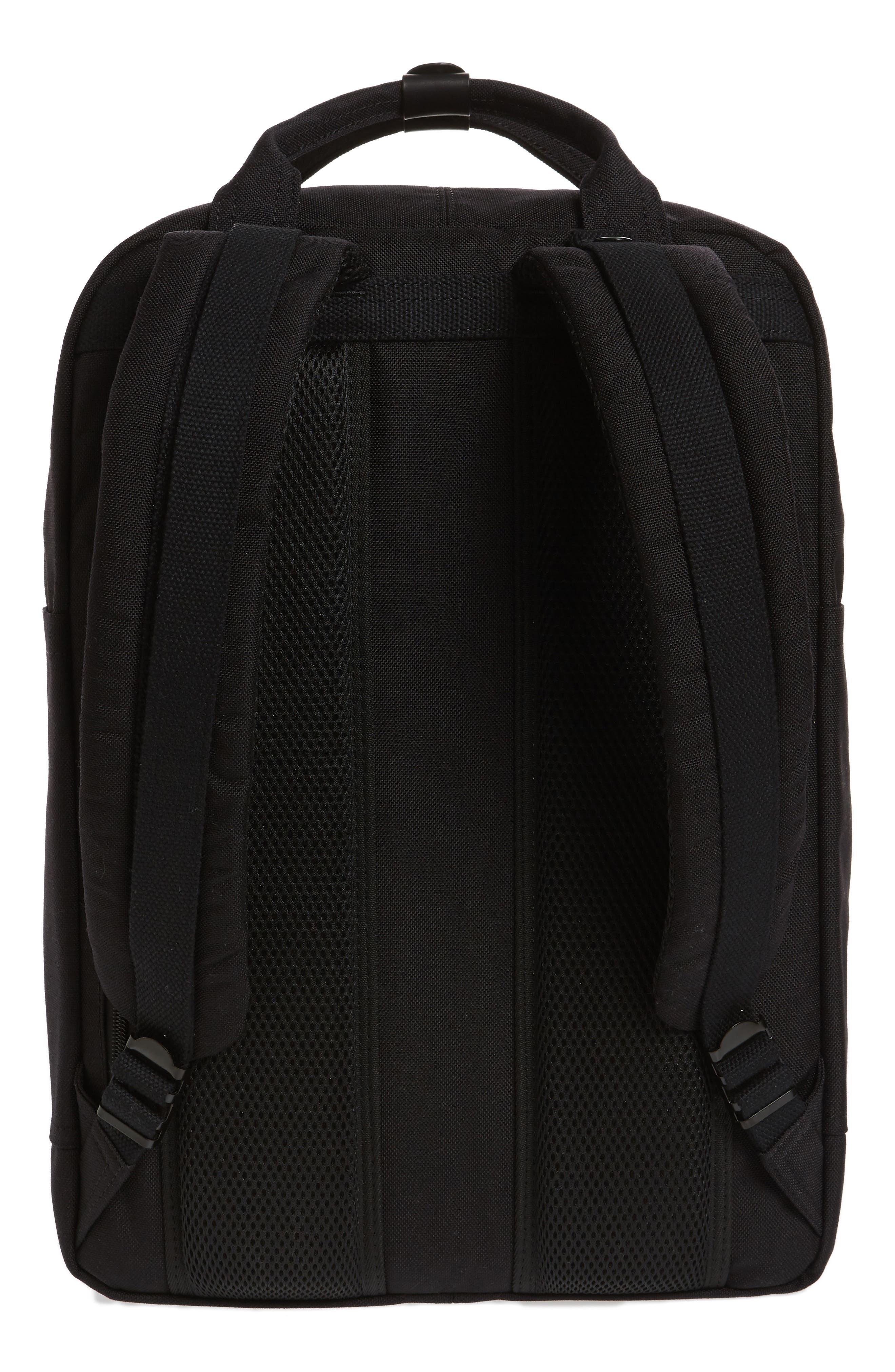 Macaroon Large Cordura<sup>®</sup> Black Series Water Repellent Backpack,                             Alternate thumbnail 3, color,                             Black